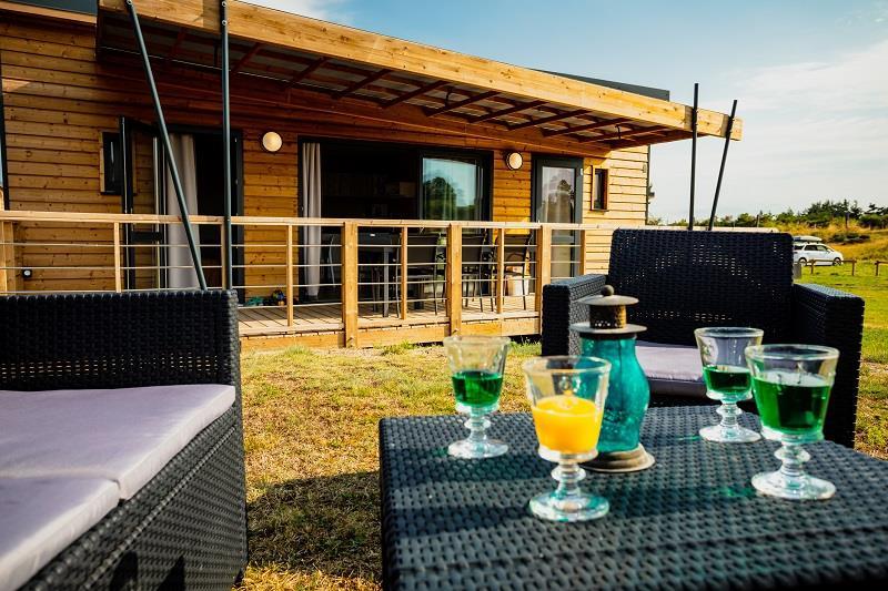 Location - Cottage Privilège 2 Salles De Bain, 2 Wc - Camping Les Sous Bois du Lac
