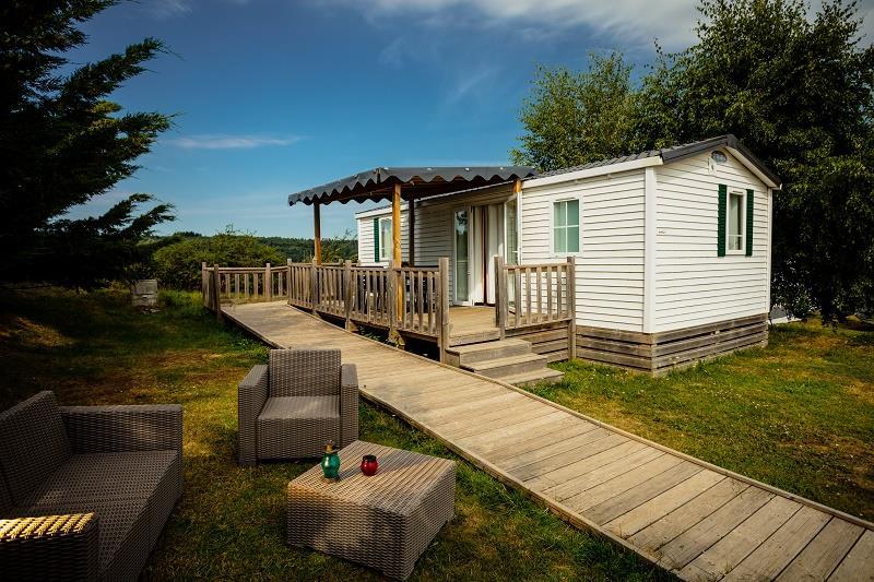 Location - Mobil-Home Ophéa Premium - Camping Les Sous Bois du Lac