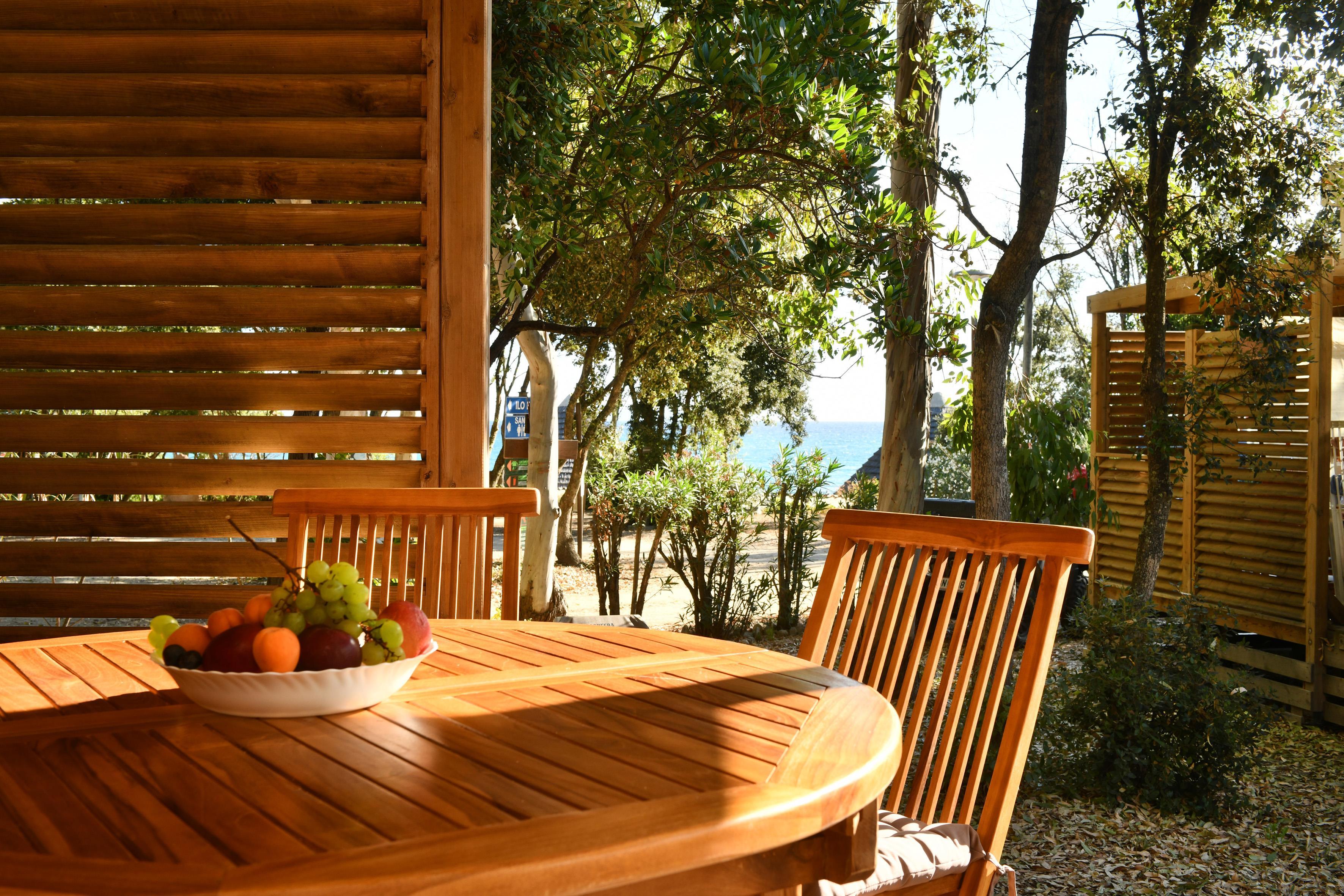 Location - Mobil Home 2 Chambres / 2 Salles De Bain - Domaine naturiste de Bagheera
