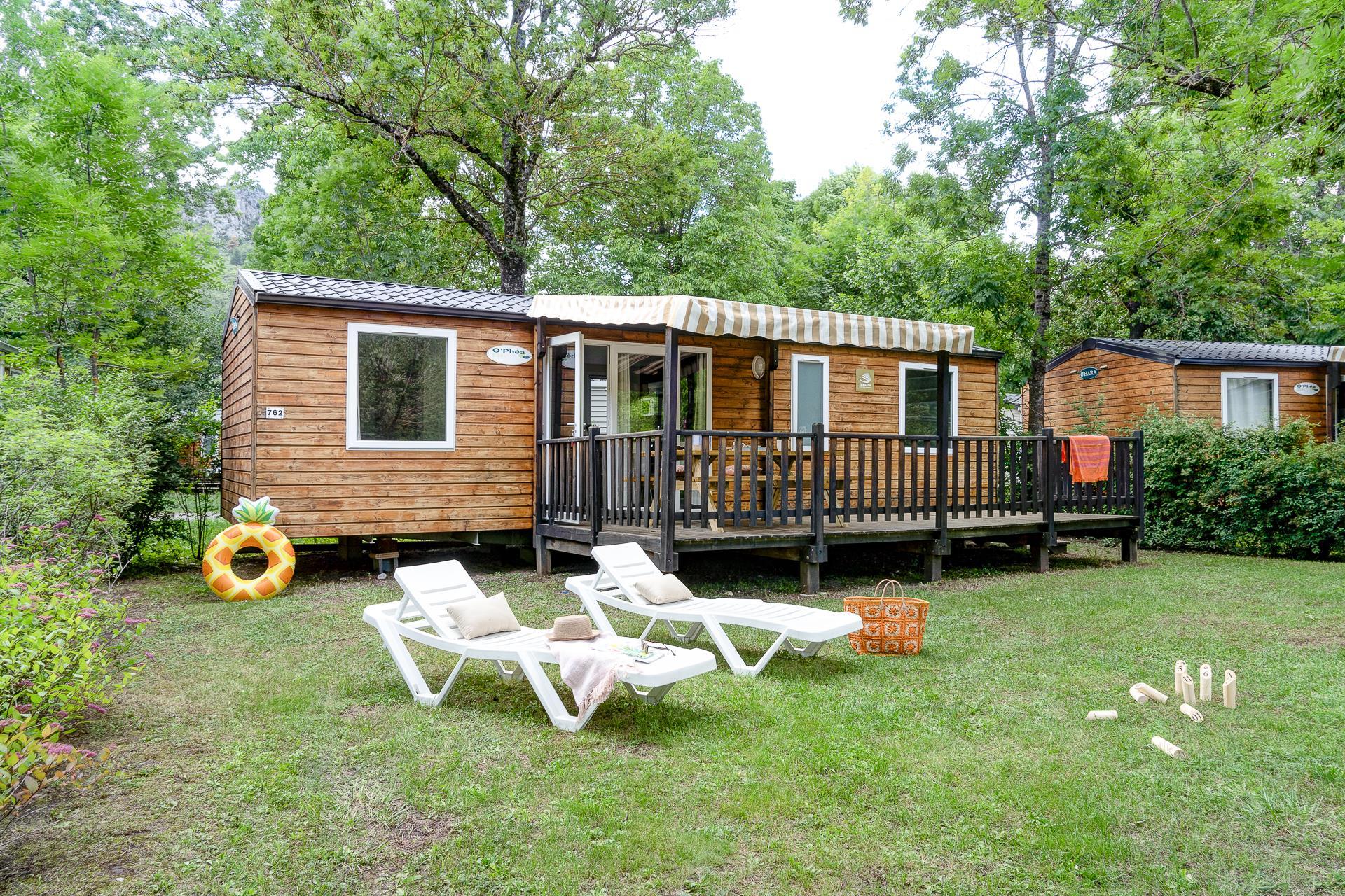 Location - Cottage -  3 Chambres - 2 Salles De Bain ** - Camping Sandaya Domaine du Verdon