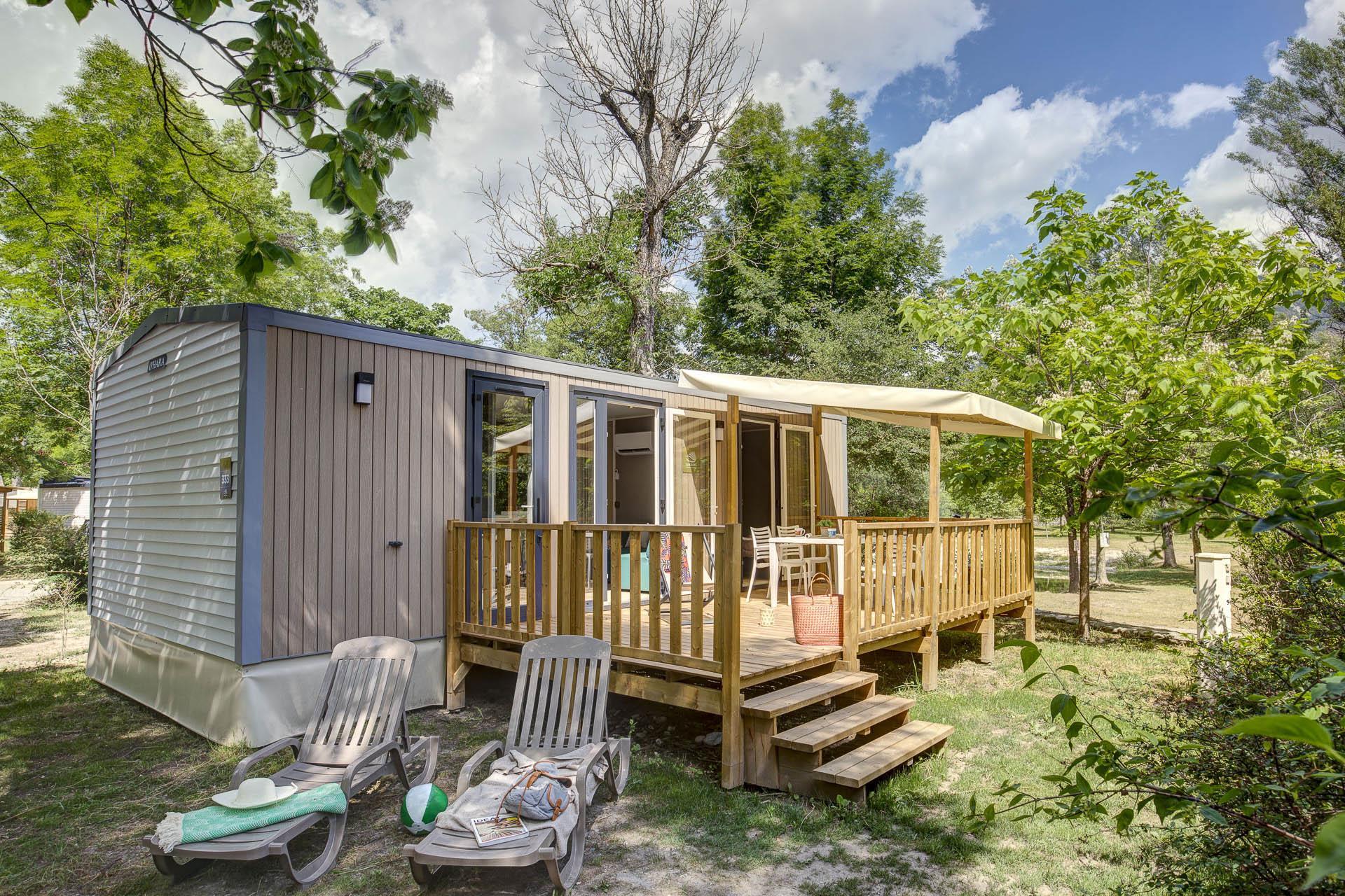 Location - Cottage - 2 Chambres-  2 Salles De Bains - Climatisation **** - Camping Sandaya Domaine du Verdon