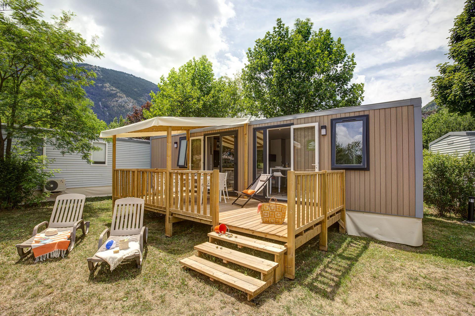 Location - Cottage - 3 Chambres-  2 Salles De Bains - Climatisation **** - Camping Sandaya Domaine du Verdon