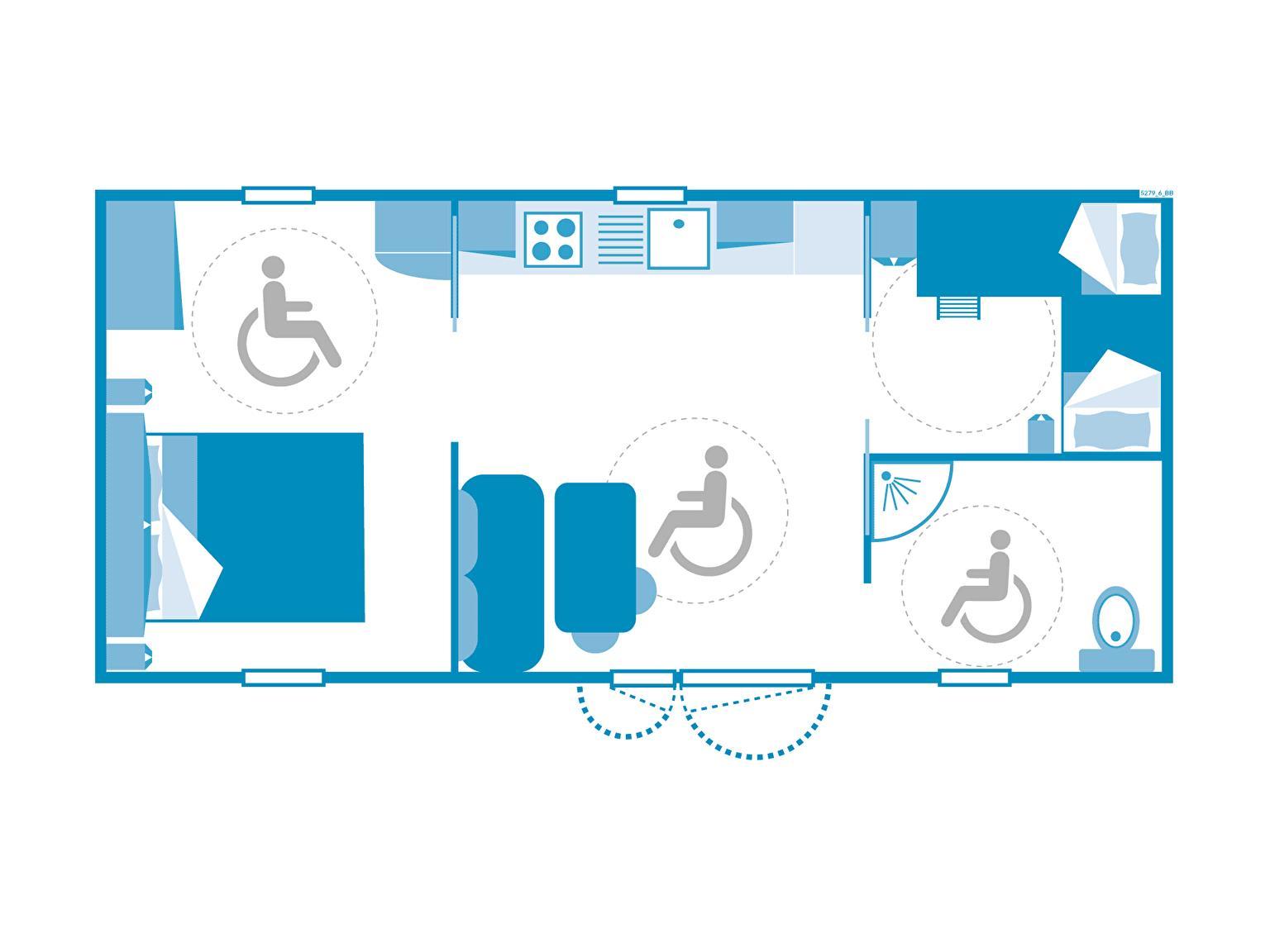 Location - Cottage 2 Chambres ** Adapté Aux Personnes À Mobilité Réduite - Camping Sandaya Domaine du Verdon