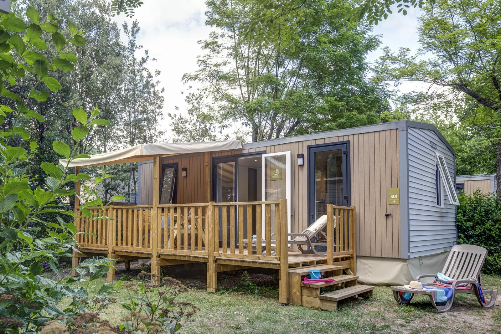 Location - Cottage 2 Chambres - Climatisation + Tv *** - Camping Sandaya Domaine du Verdon