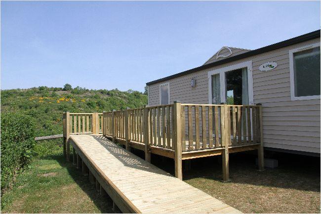 Location - Mobil-Home 34M² / 2 Chambres - Terrasse (Adapté Personne À Mobilité Réduite) - Flower Camping de Mars
