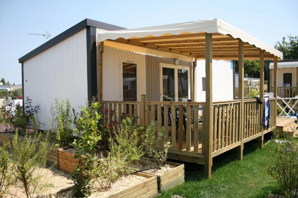 Location - Mobil Home Premium 40M² Climatisé - 2 Chambres + Terrasse Couverte - Flower Camping La Riviere
