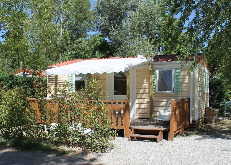 Location - Mobil-Home Eco 29M² (2 Chambres) + Terrasse Couverte - Flower Camping La Riviere