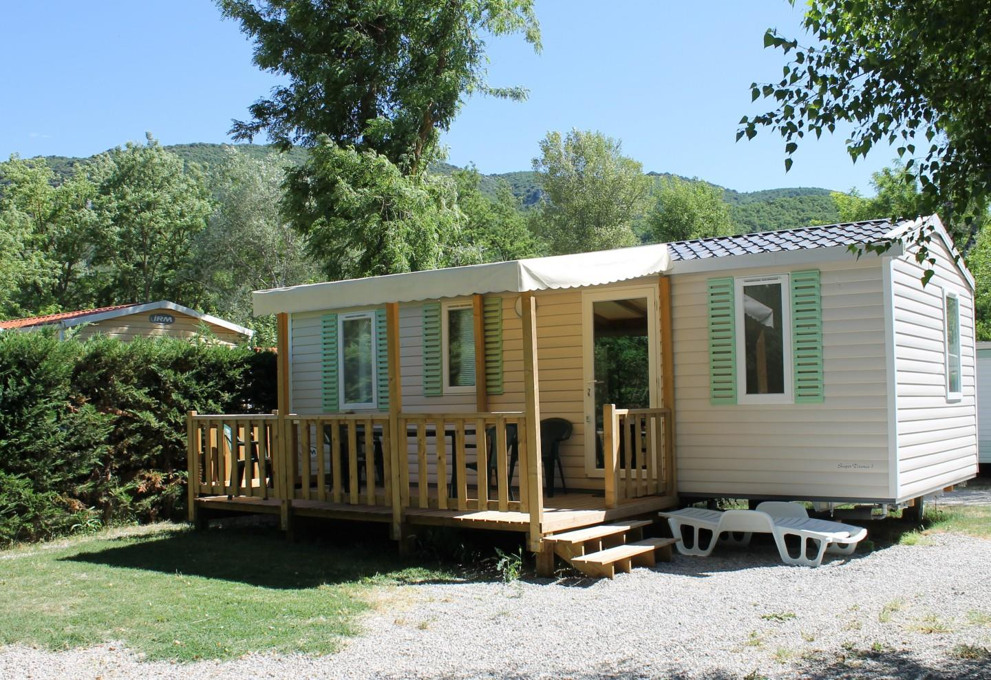 Location - Mobil-Home Family Confort + 32M² (3 Chambres) + Terrasse Couverte - Flower Camping La Riviere