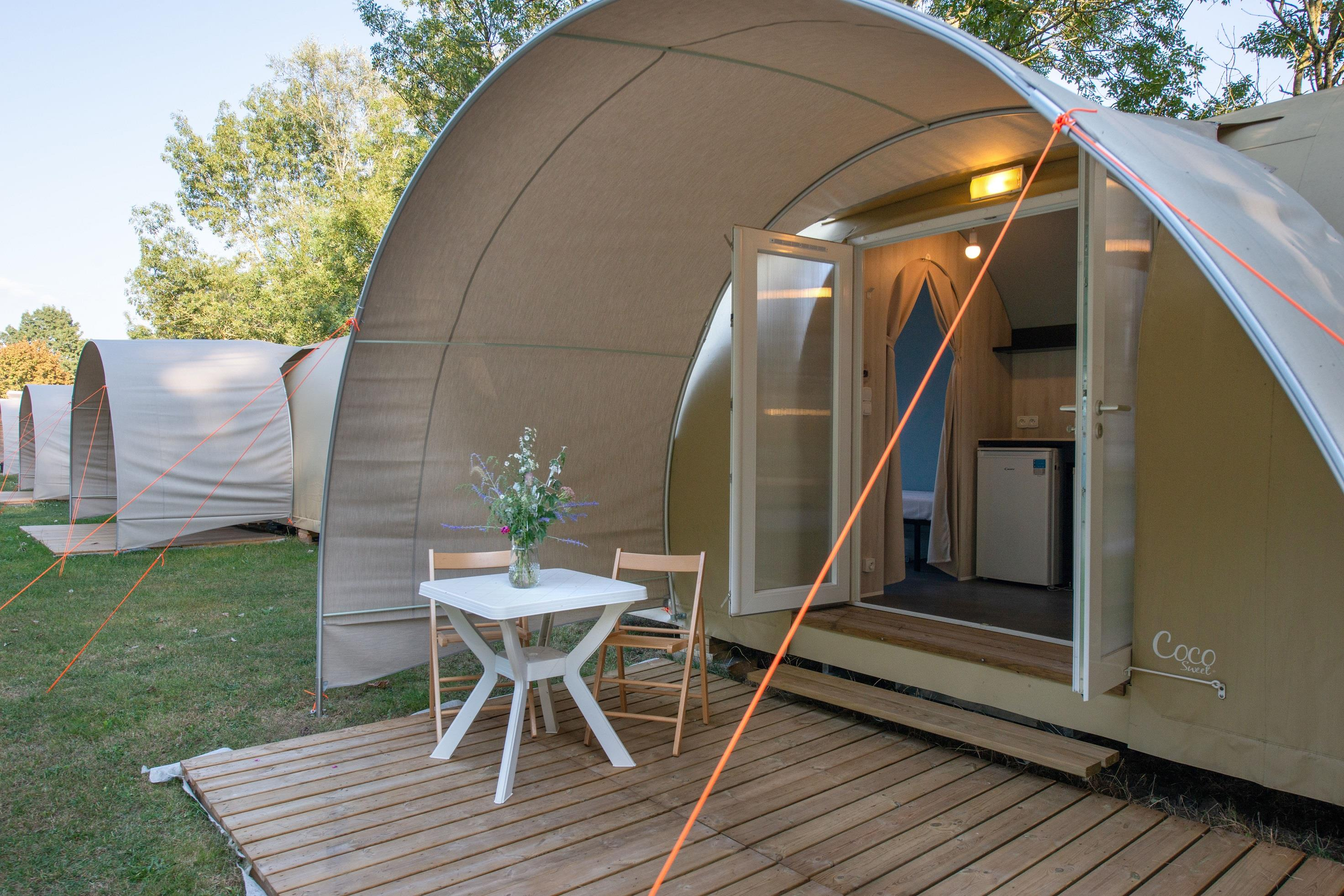 Accommodation - Tent Coco Sweet + 1 Car - Camping Aux Rives du Soleil