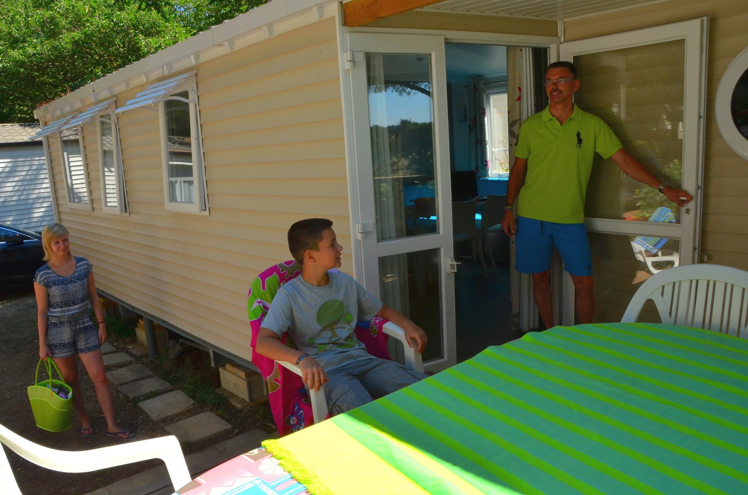 Location - Le Lodge Climatise 3 Chambres - Camping Le Bon Port