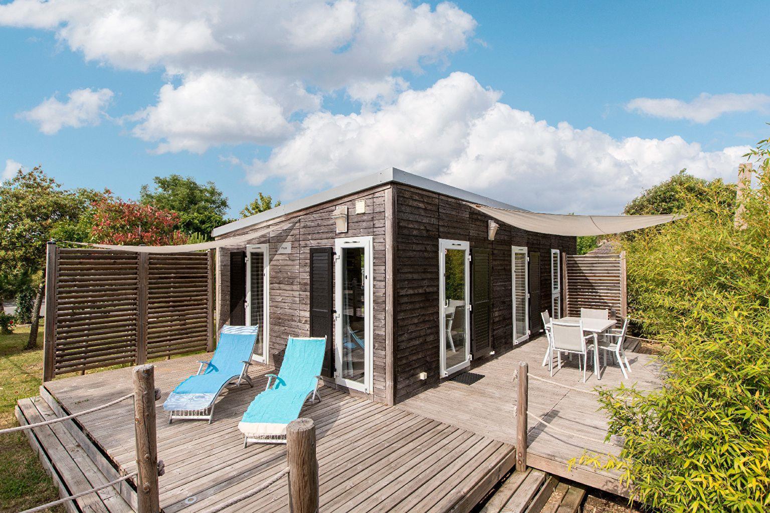 Location - Cottage Keywest La Marina 2 Chambres Climatisé Premium - Camping Sandaya Séquoia Parc