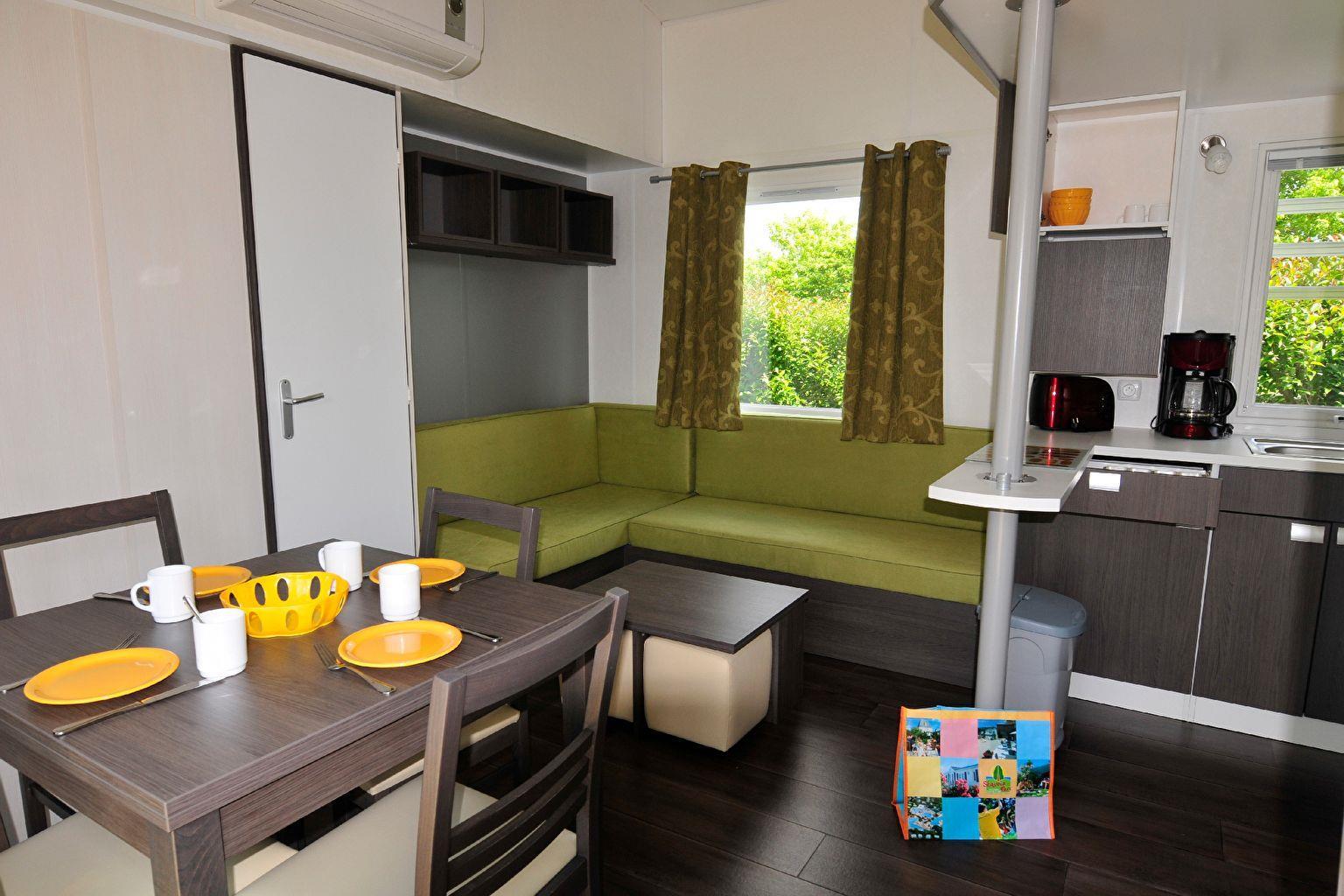 Location - Cottage 3 Chambres Climatisé **** - Camping Sandaya Séquoia Parc