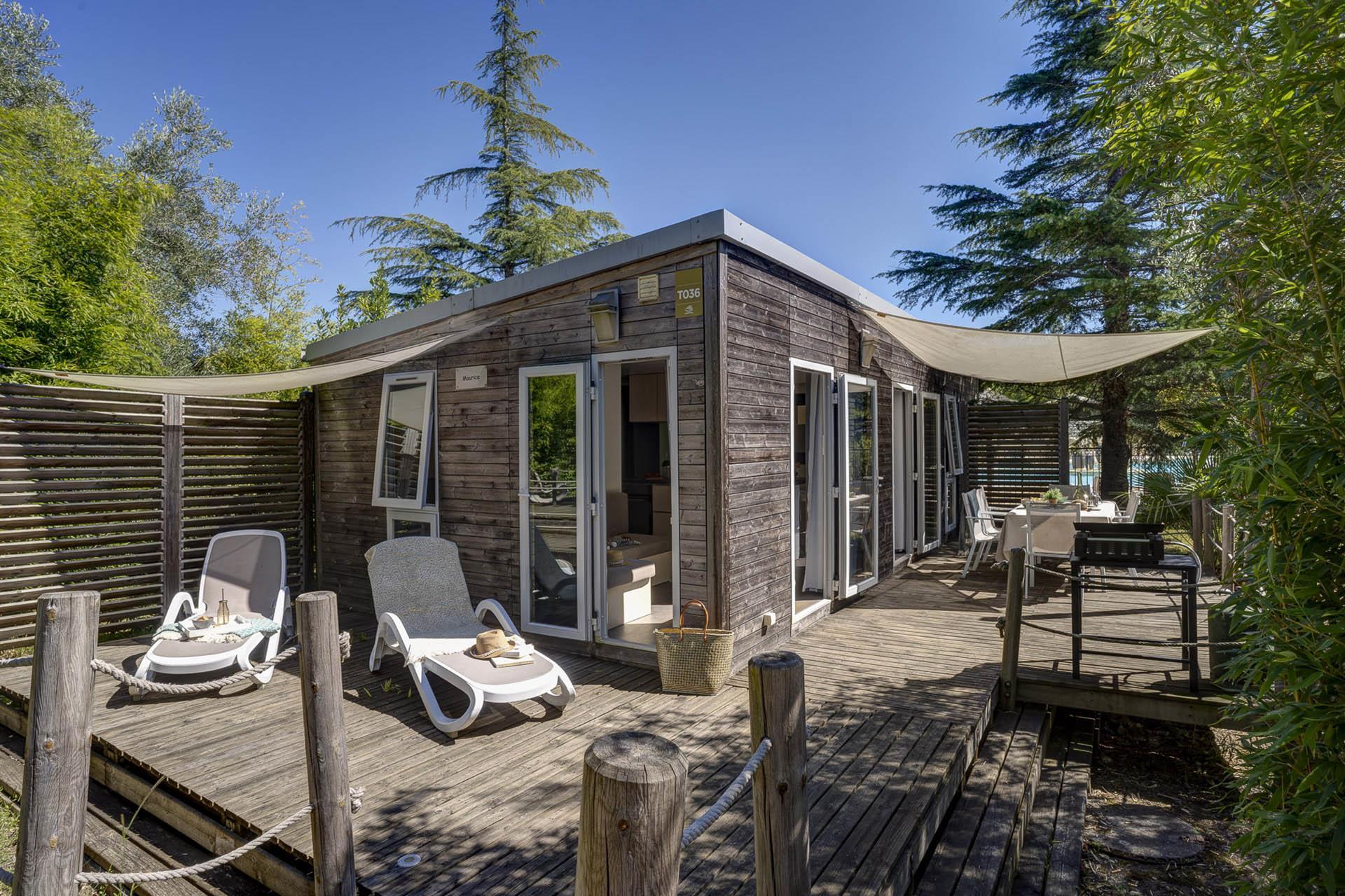 Location - Cottage Keywest La Marina 3 Chambres Climatisé Premium - Camping Sandaya Séquoia Parc