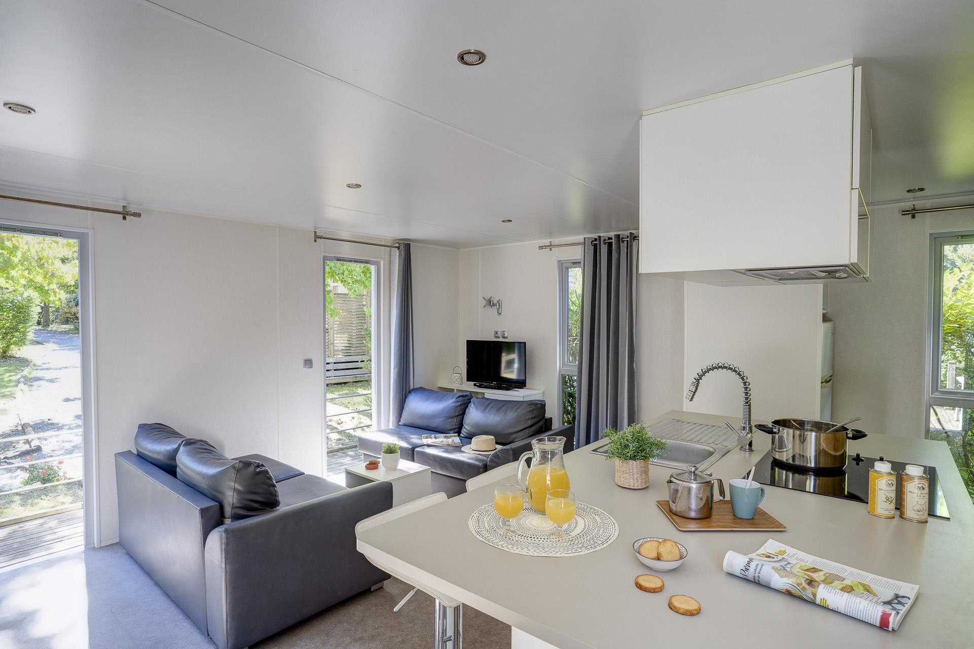 Location - Cottage Keywest Funny Forest 2 Chambres Climatisé Premium - Camping Sandaya Séquoia Parc