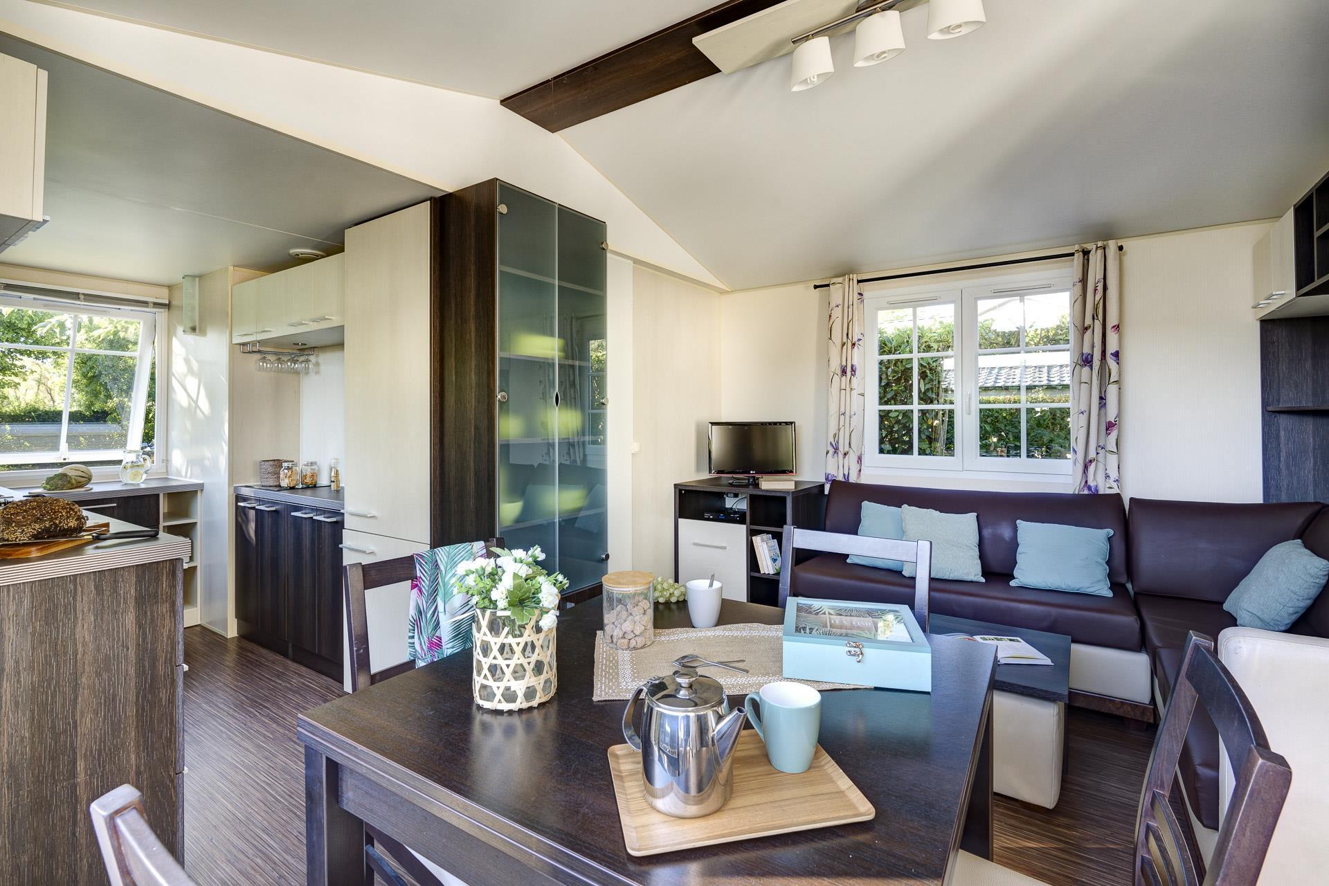 Location - Cottage 2 Chambres Climatisé **** - Camping Sandaya Séquoia Parc