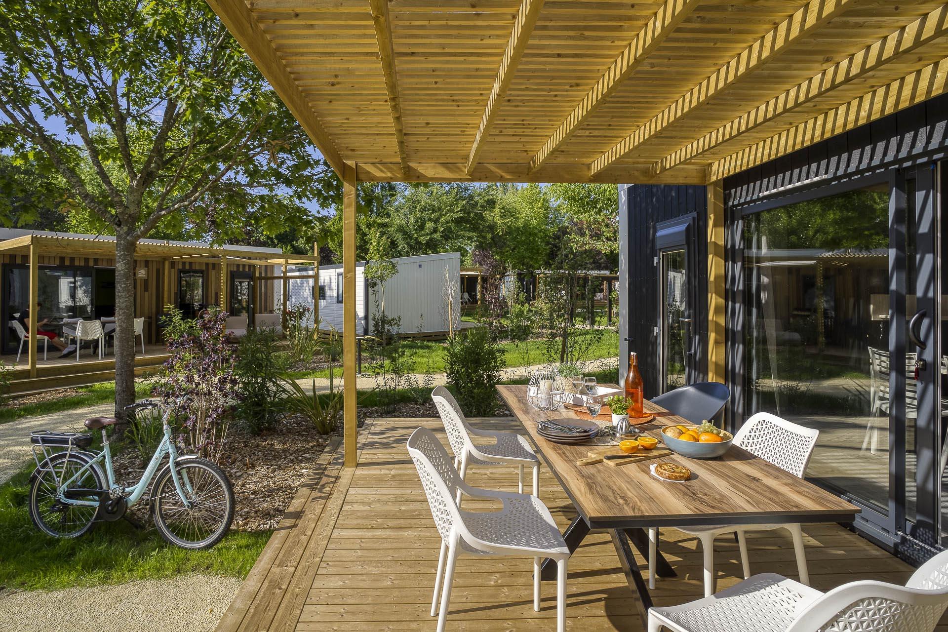Location - Cottage Cocoon 2 Chambres Premium - Camping Sandaya Séquoia Parc