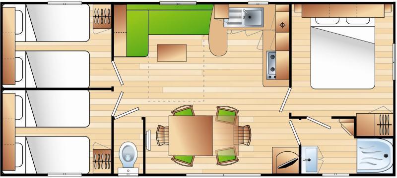 Mobilhome Premium 34m²  (3 habitaciones)
