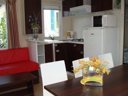 Location - Mobil Home Caraïbes - 3 Chambres - Camping Au Bocage du Lac