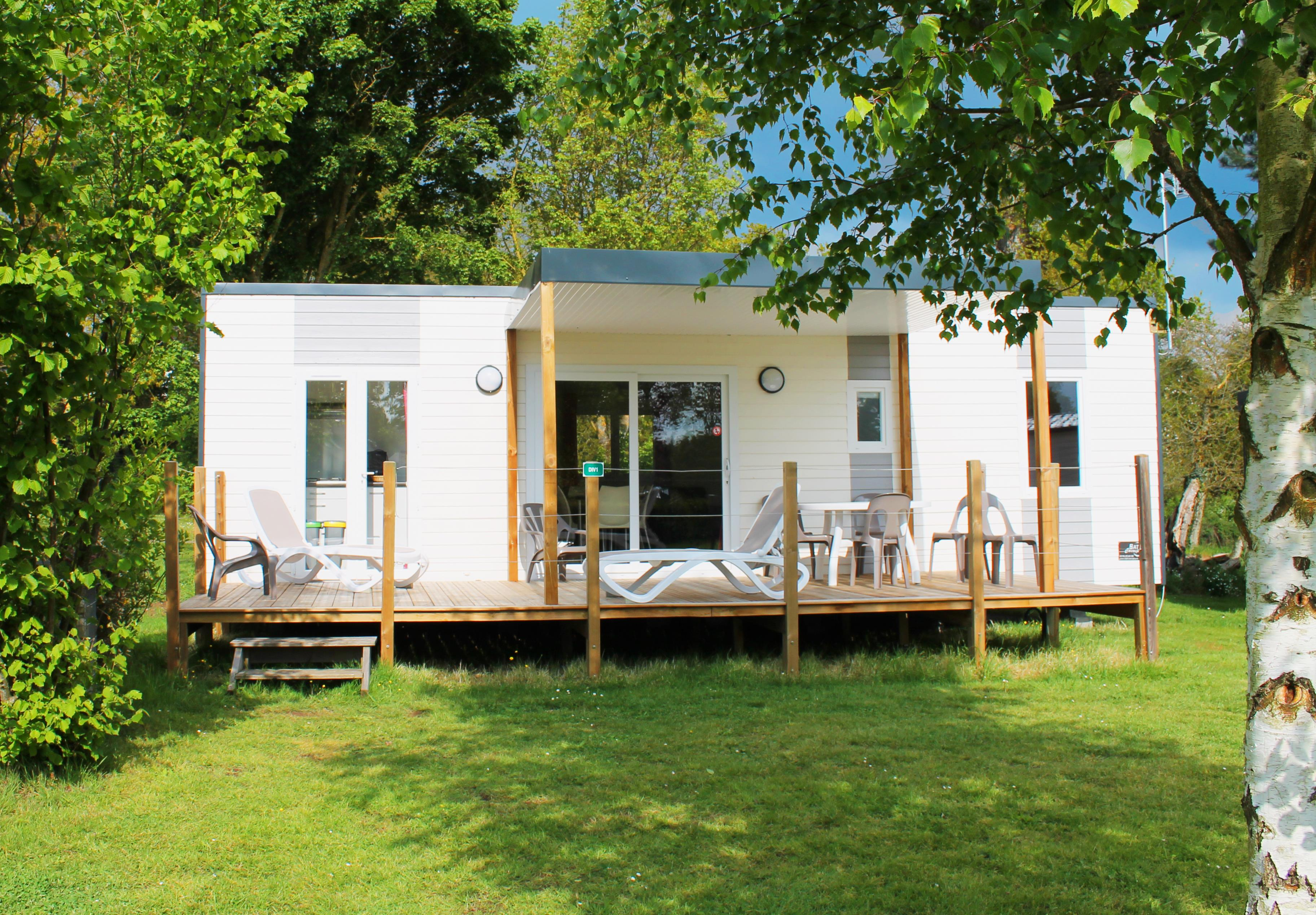 Location - Mobil Home Maldives 3 Chambres 6 Pers. - Camping Au Bocage du Lac