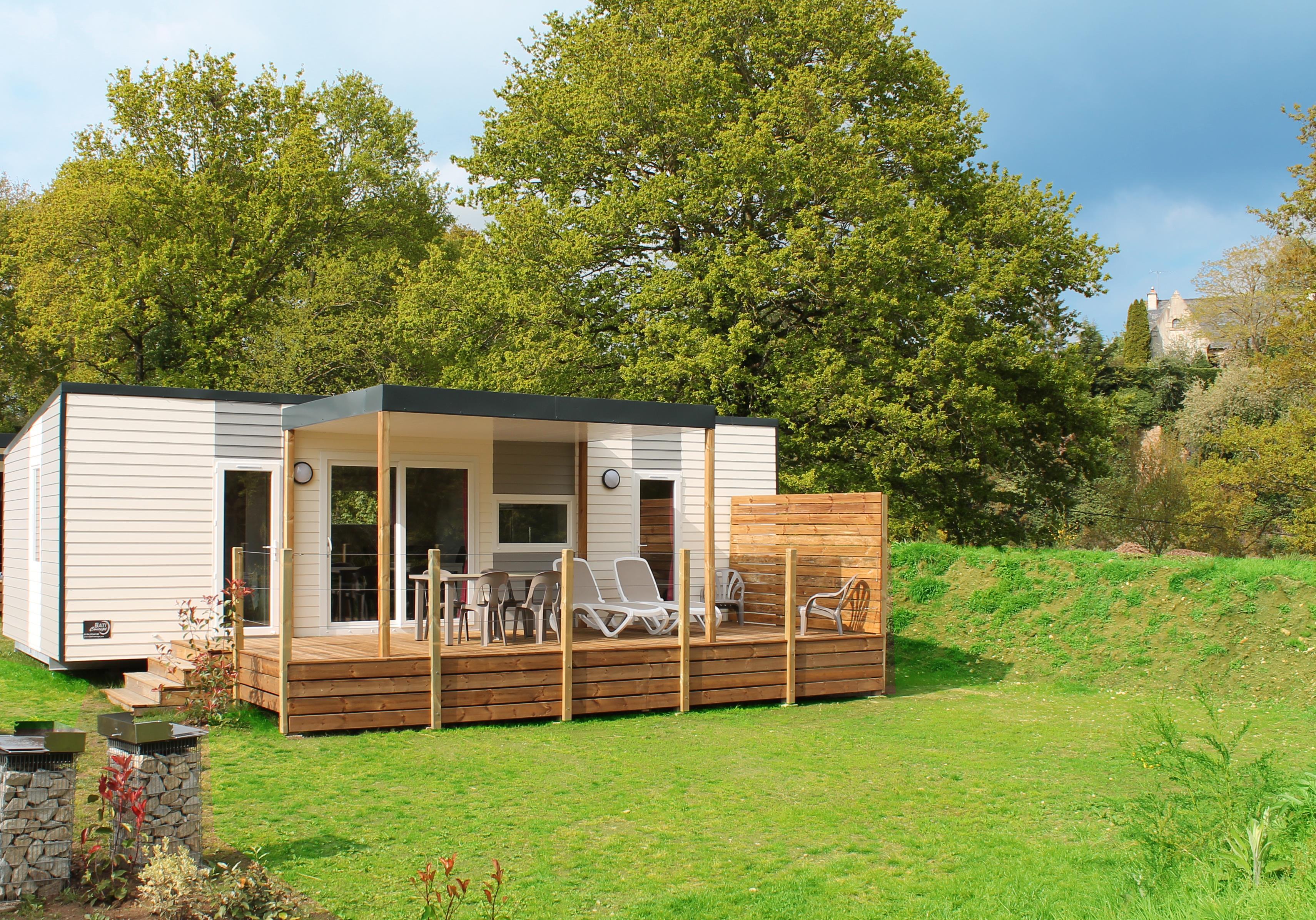 Location - Mobil Home Lagon - 2 Chambres, 2 Salles De Bain - Camping Au Bocage du Lac