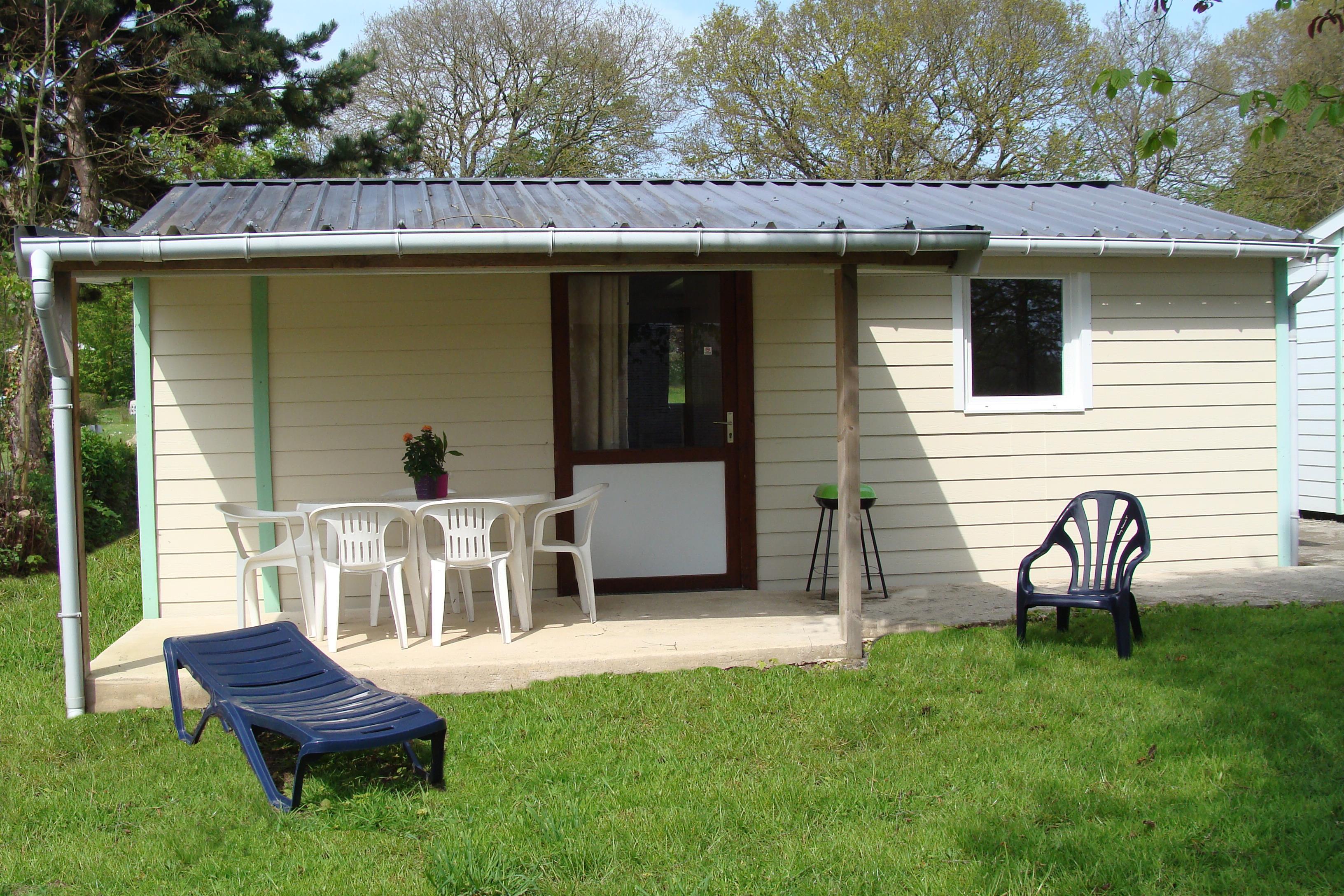 Location - Chalet Vahine Acces Pmr - 2 Chambres - Camping Au Bocage du Lac
