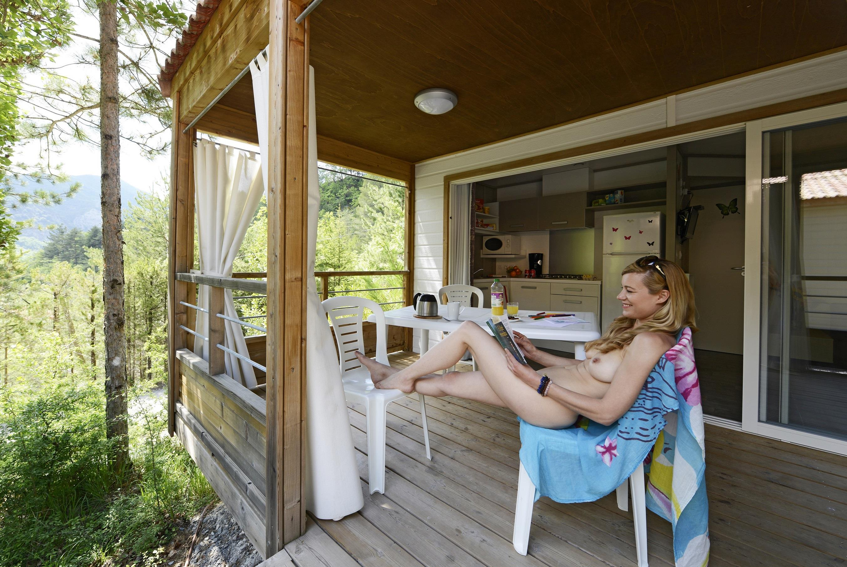Location - Chalet Vip Papillon - Camping Club Origan Domaine Naturiste