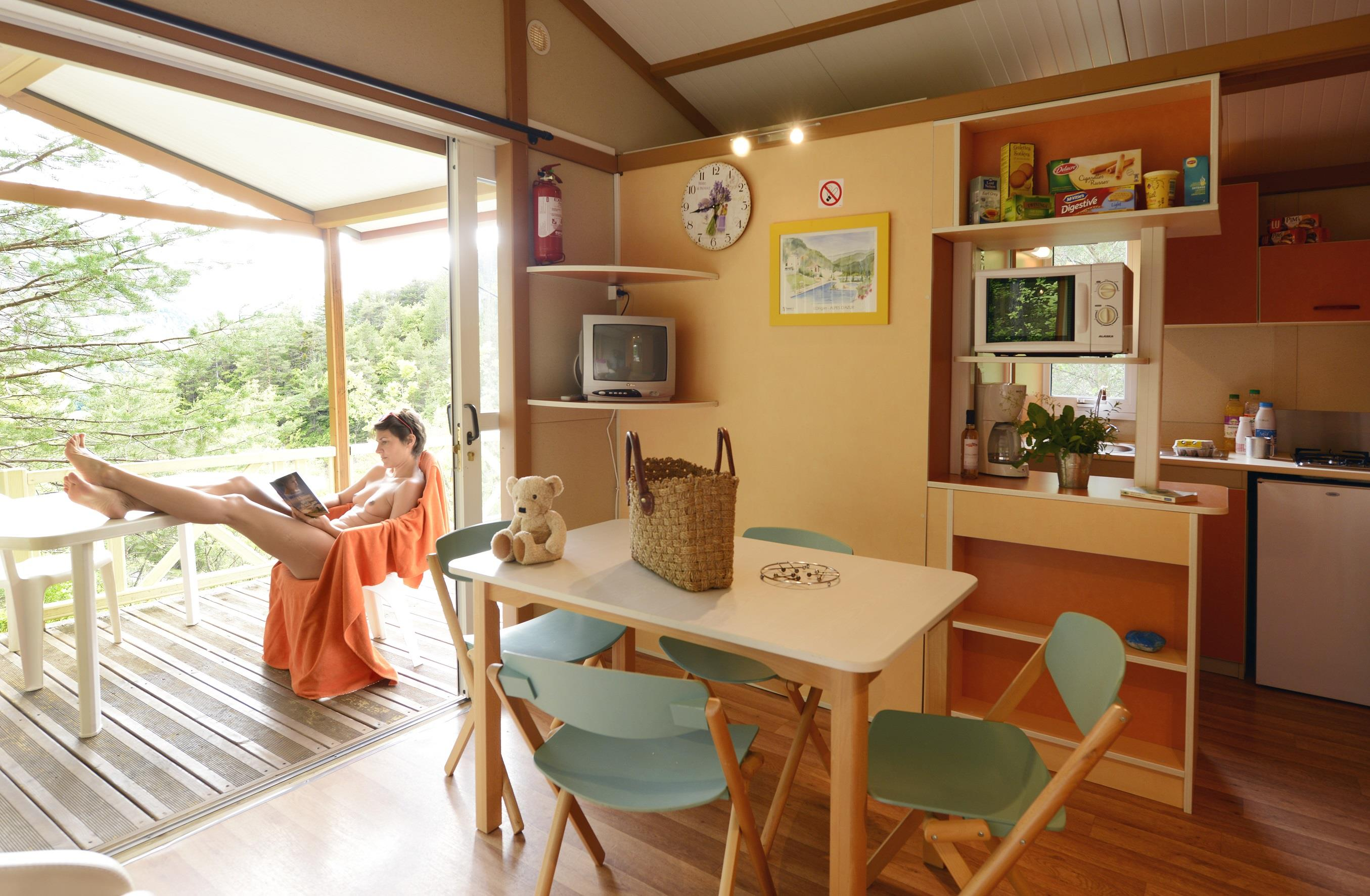 Location - Chalet Cigale - Camping Club Origan Domaine Naturiste