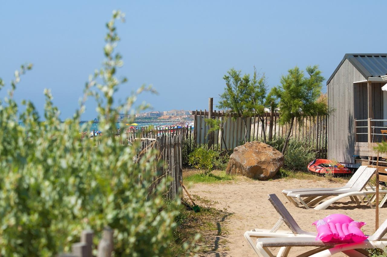 Location - Cabane De La Mer Signature 6 Pers. - Vue Mer - Camping Les Méditerranées Beach Garden