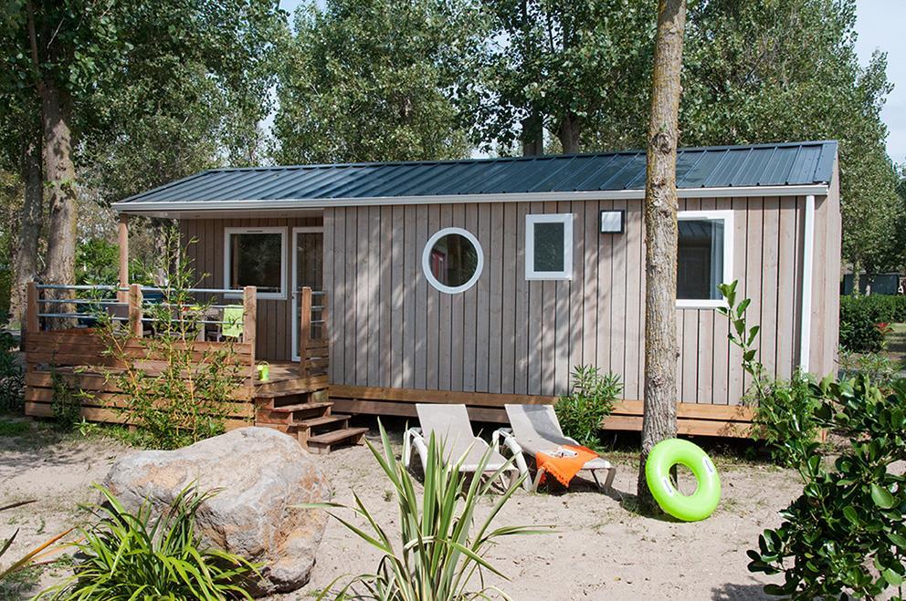 Location - Cabane De La Réserve Collection 6 Pers. - Camping Les Méditerranées Beach Garden