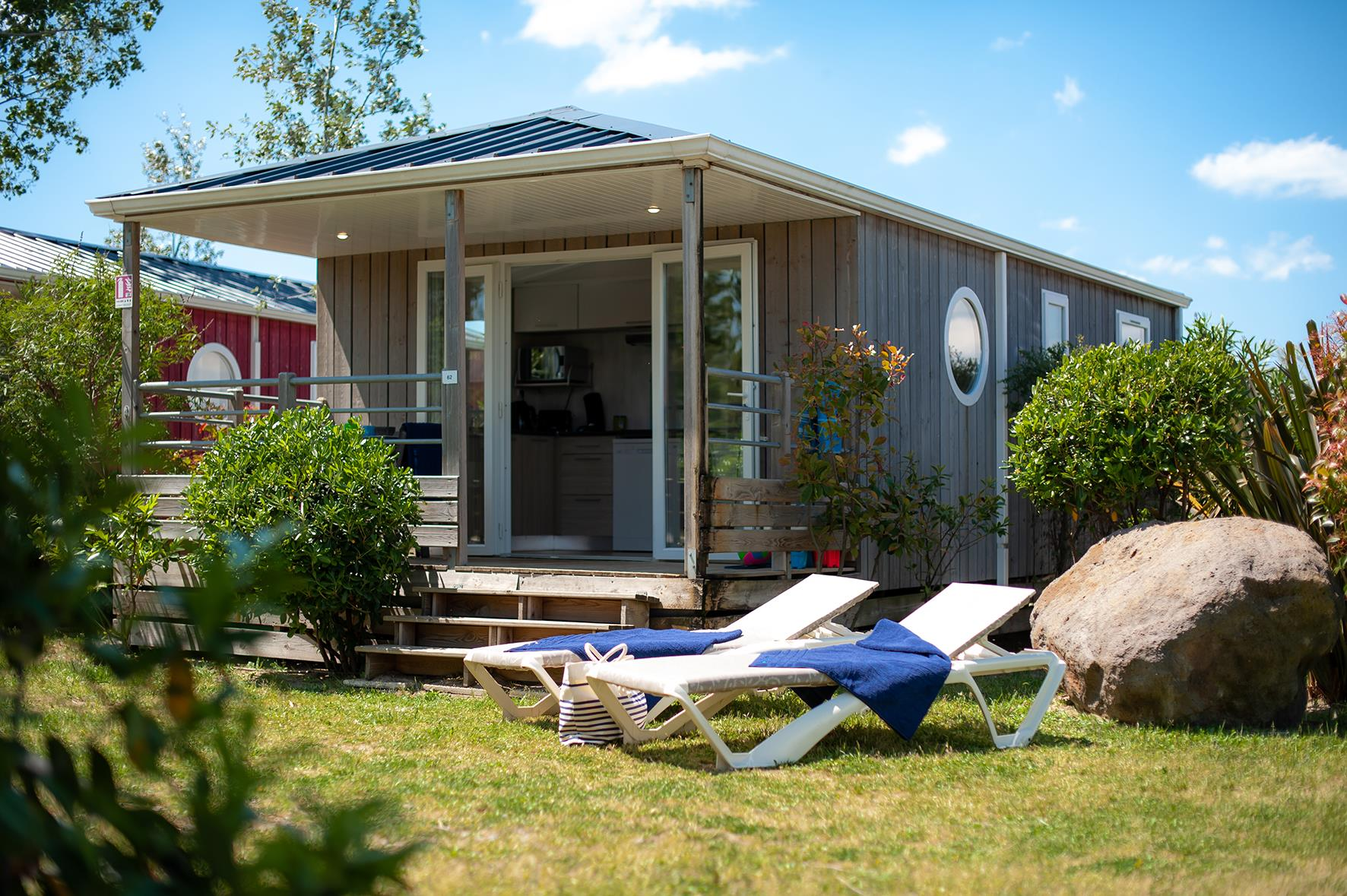 Location - Cabane De La Réserve Collection 4 Pers. - Camping Les Méditerranées Beach Garden