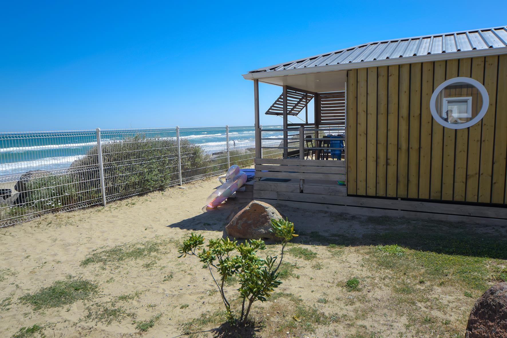 Location - Cabane De La Mer Signature 4 Pers. - 1Ère Ligne Pleine Vue Mer - Camping Les Méditerranées Beach Garden