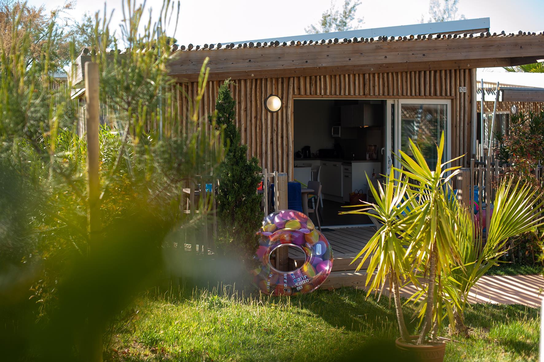 Location - Maison Du Bagnas Signature 6 Pers. - Camping Les Méditerranées Beach Garden