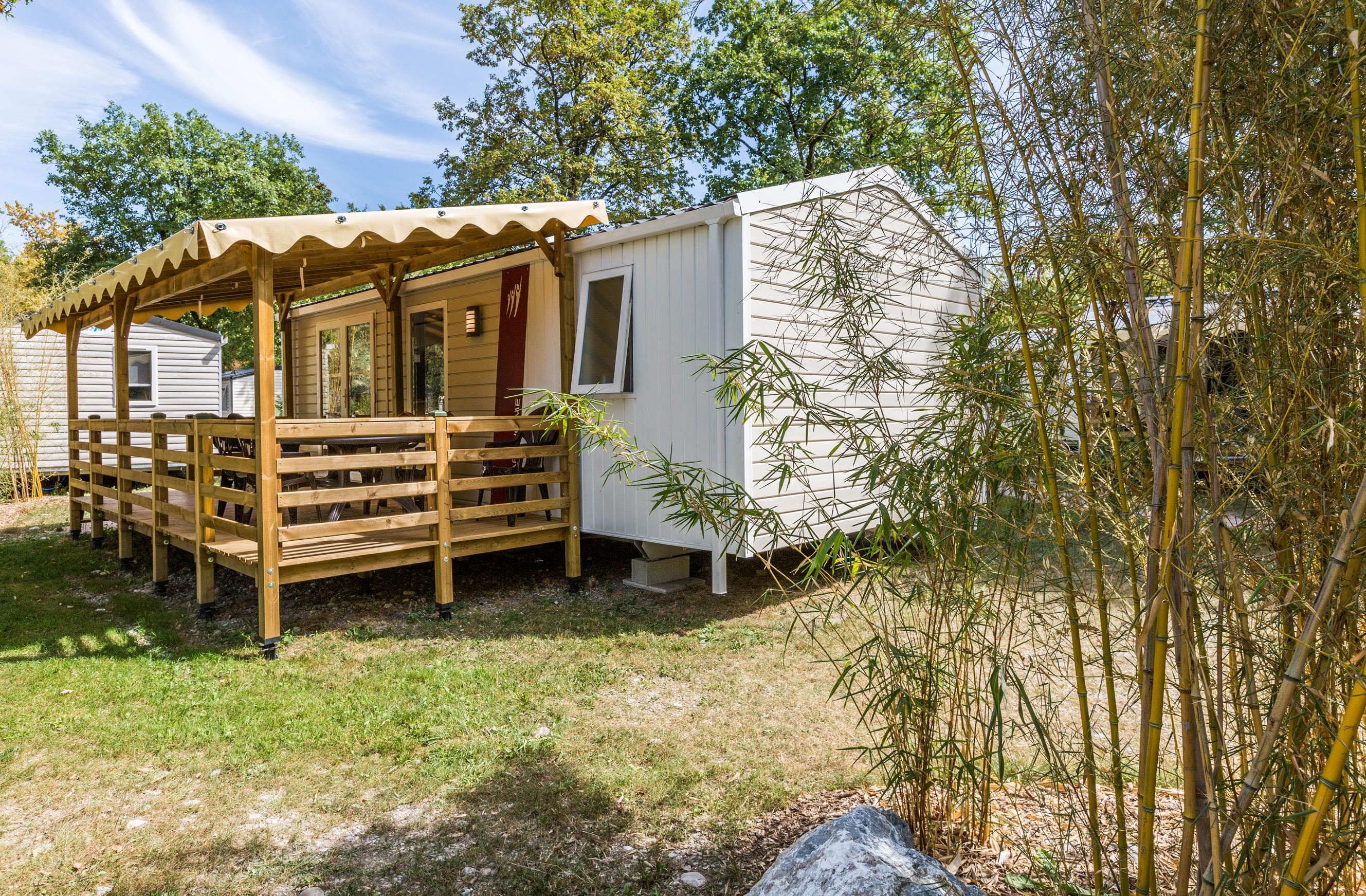 Location - Mobilhome Savoie 31M² - Terrasse Couverte 15M² (2 Chambres) - Camping Saint-Disdille