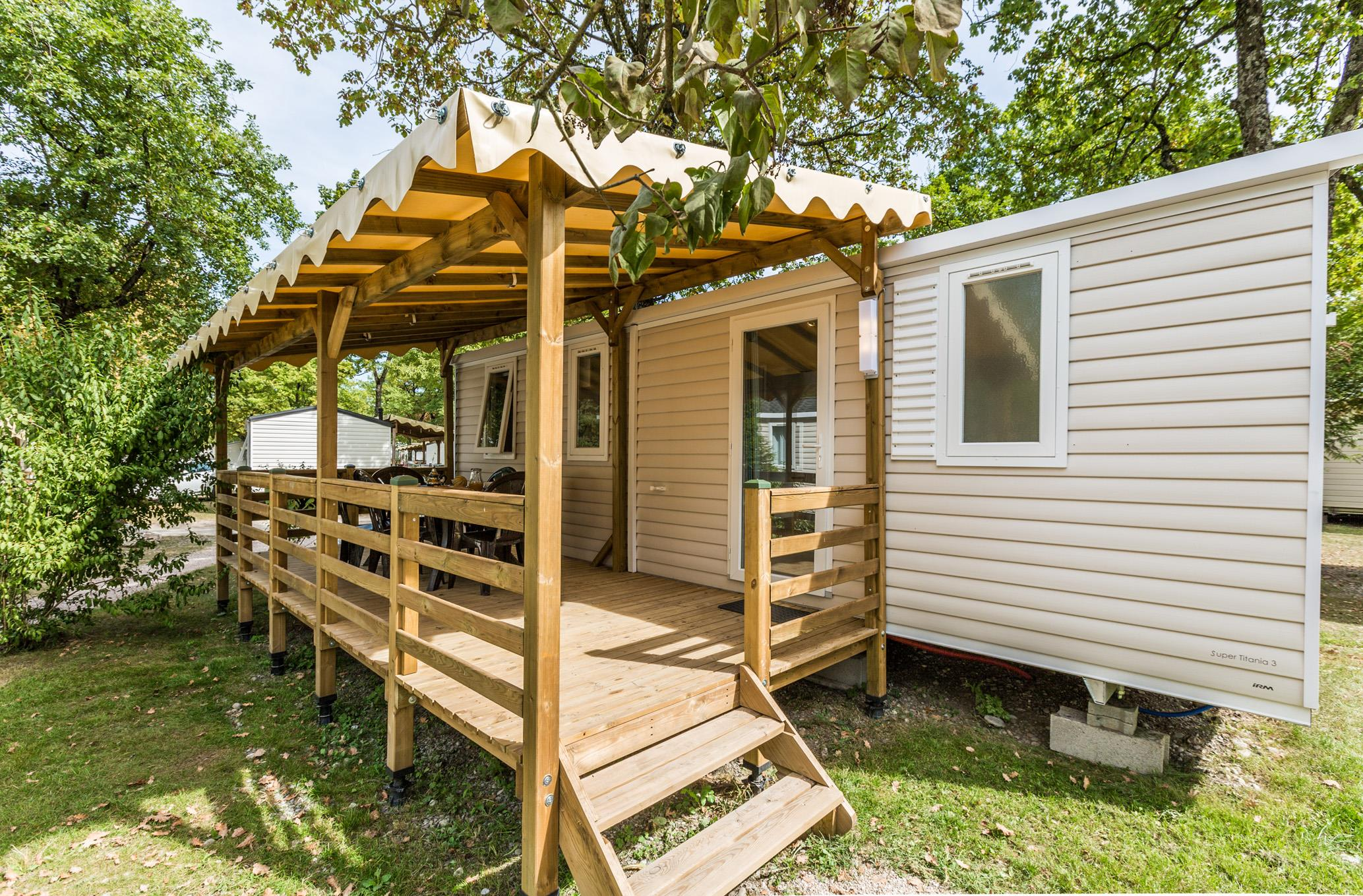 Location - Mobilhome Alpage 32M² - Terrasse Couverte 15M² (3 Chambres) - Camping Saint-Disdille