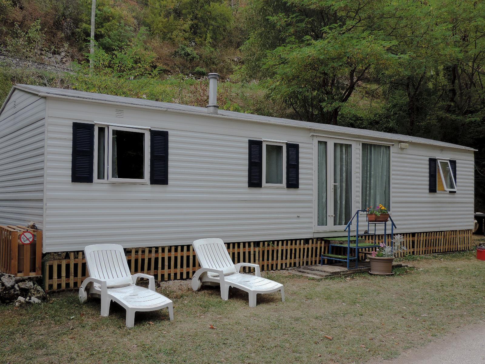 Notre mobil home Cottage (11,5 x 3,7m) - 3 chambres / 2 salles de bains