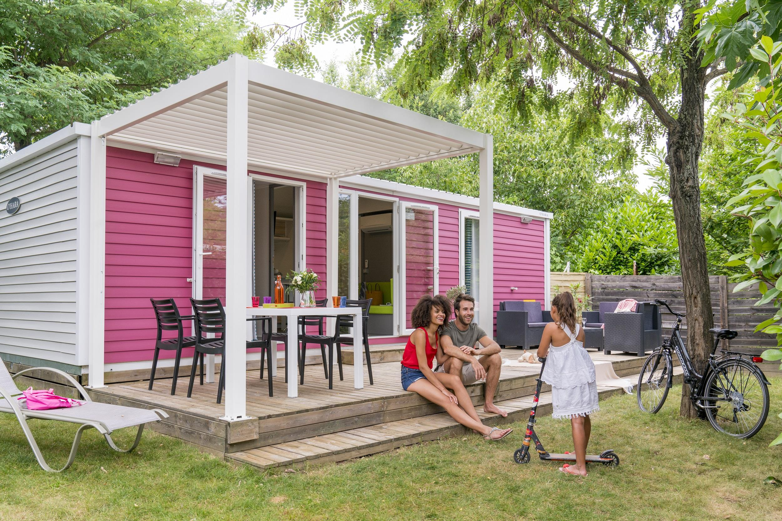 Location - Cottage Premium Burano 2 Chambres / 2 Salles De Bain - 34M² - Climatisé - Tv - Yelloh! Village Soleil Vivarais