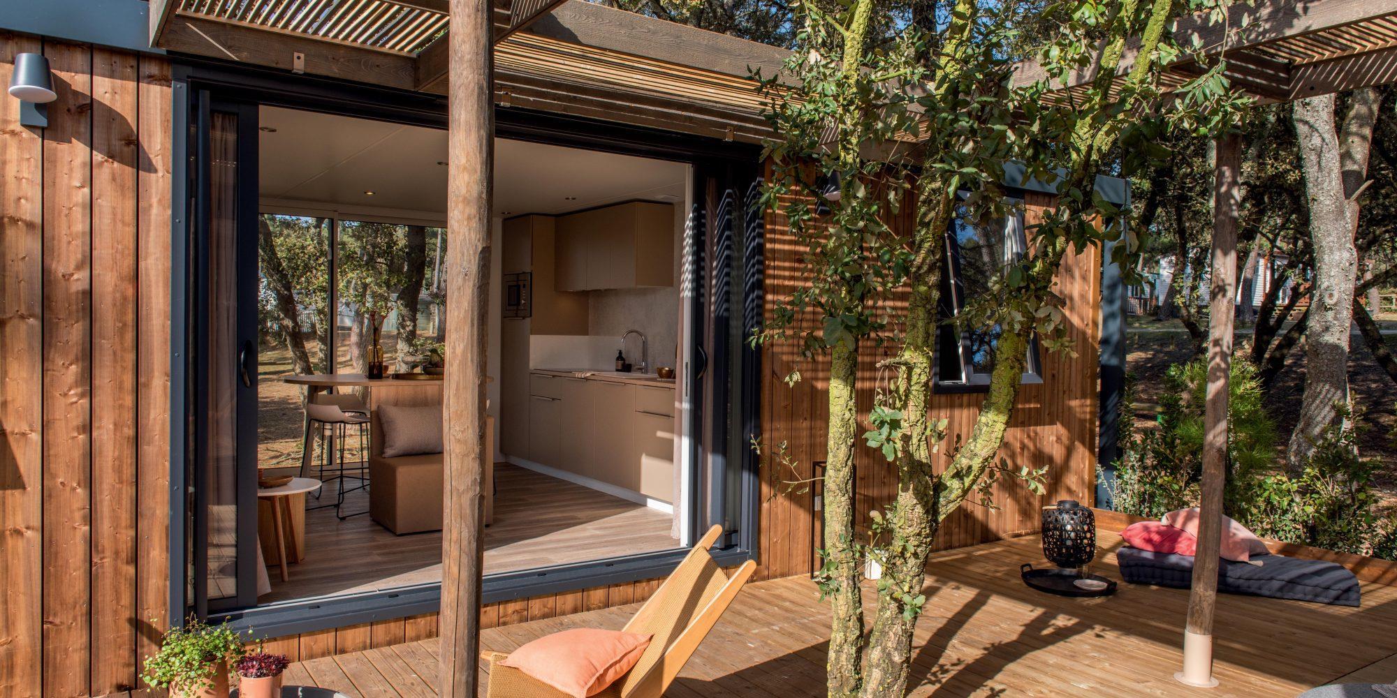 Location - Cottage Tribu Premium - 4 Chambres / 3 Salles De Bain - 61M² - Terrasse - Climatisé - Tv - Yelloh! Village Soleil Vivarais