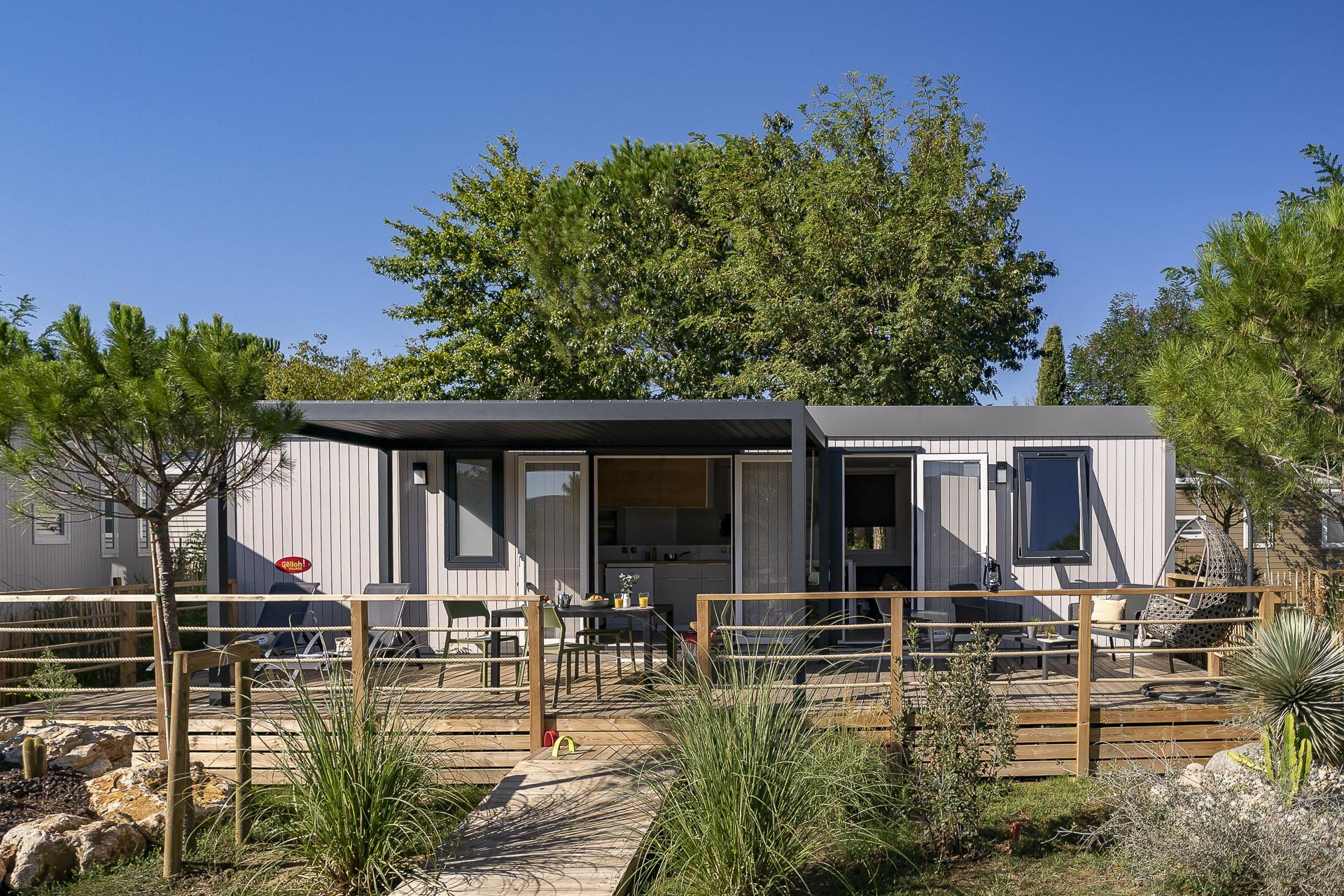 Location - Cottage Premium Arizona - 3 Chambres / 2 Salles De Bain - Terrasse - Climatisé - Yelloh! Village Soleil Vivarais