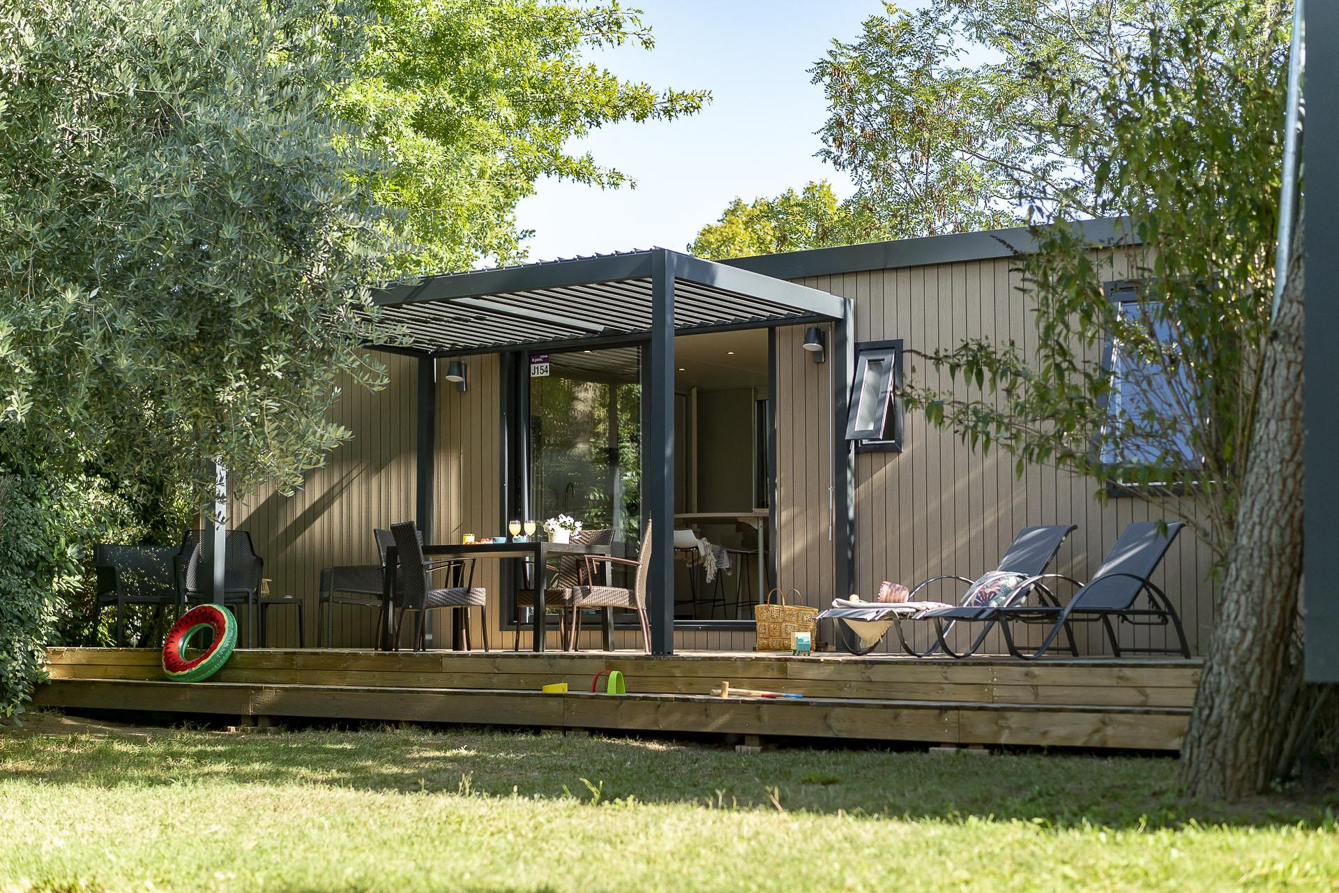 Location - Cottage Premium 3 Chambres / 2 Salles De Bain - Climatisé - Yelloh! Village Soleil Vivarais