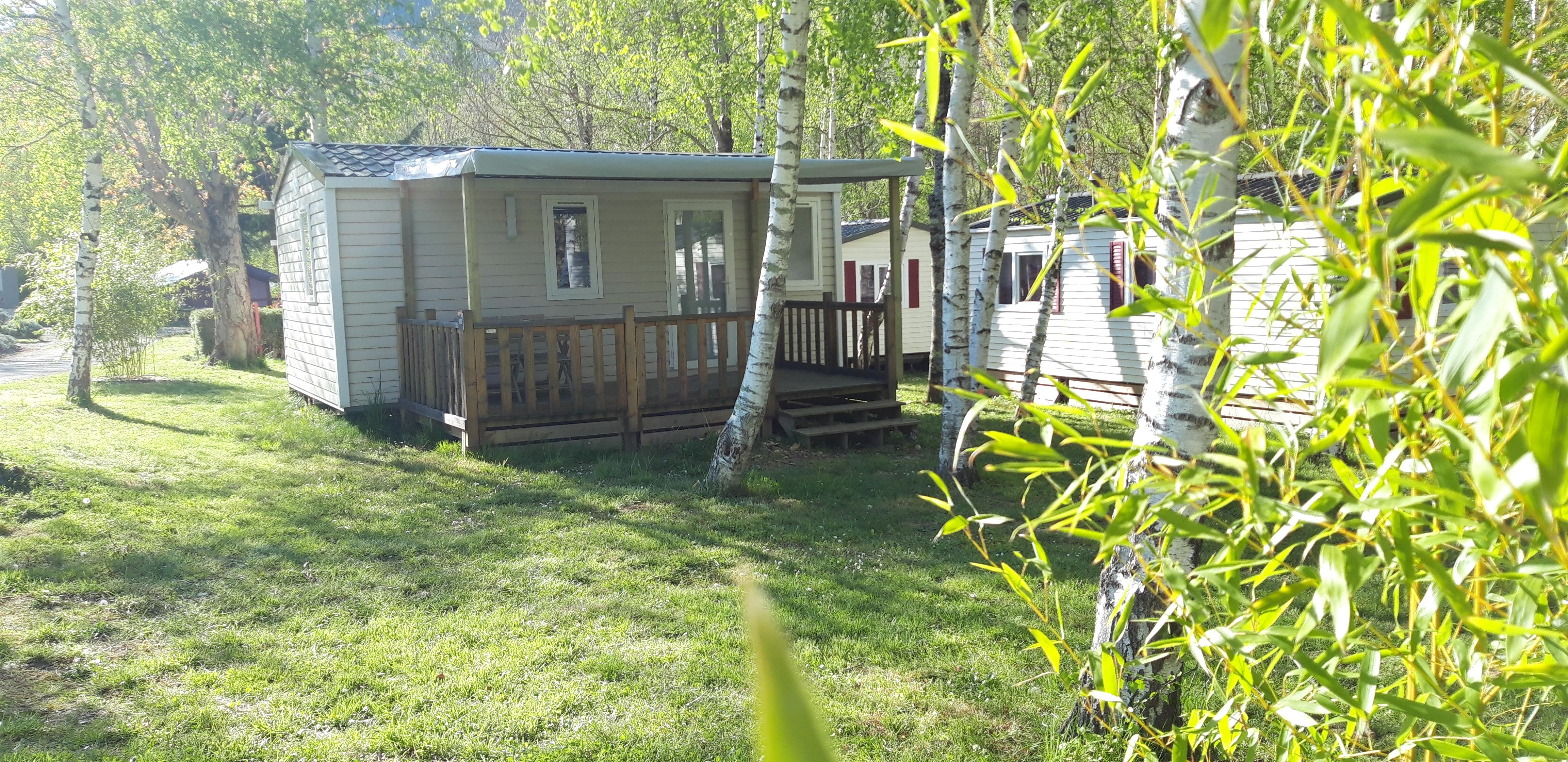 Location - Mobilhome Confort+ (2 Chambres) - Flower Camping Les Gorges de l'Aveyron