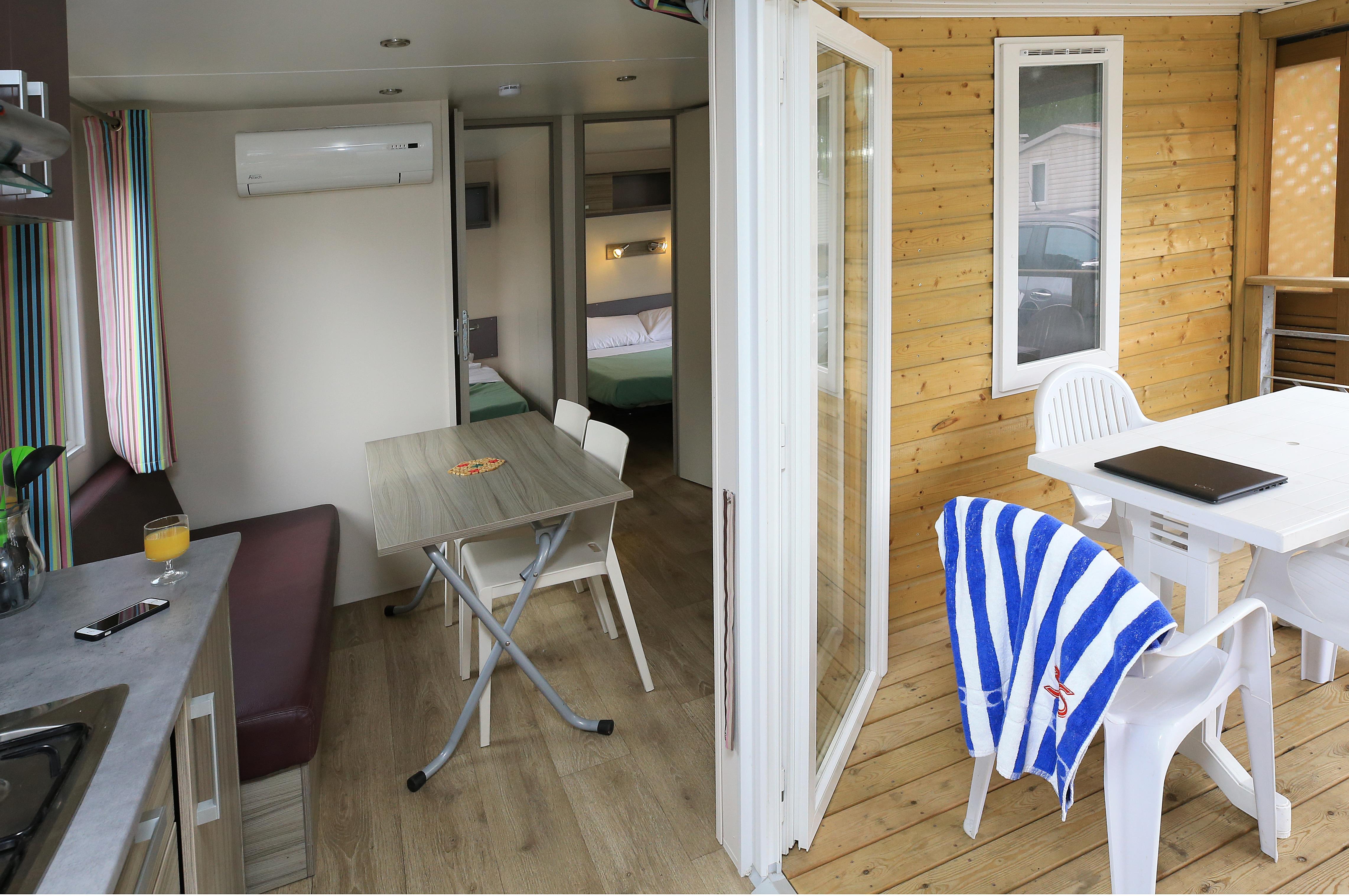 Location - Mobil-Home 2 Chambres - Camping La Pinède