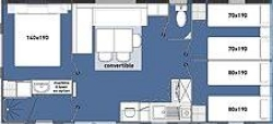 Mobilhome émotion 32m² (3 chambres) Terrasse semi-couverte