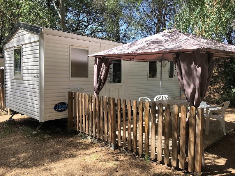 Location - Mobil-Home Ancien 21M² (2 Chambres) - Camping Le Beau Vezé