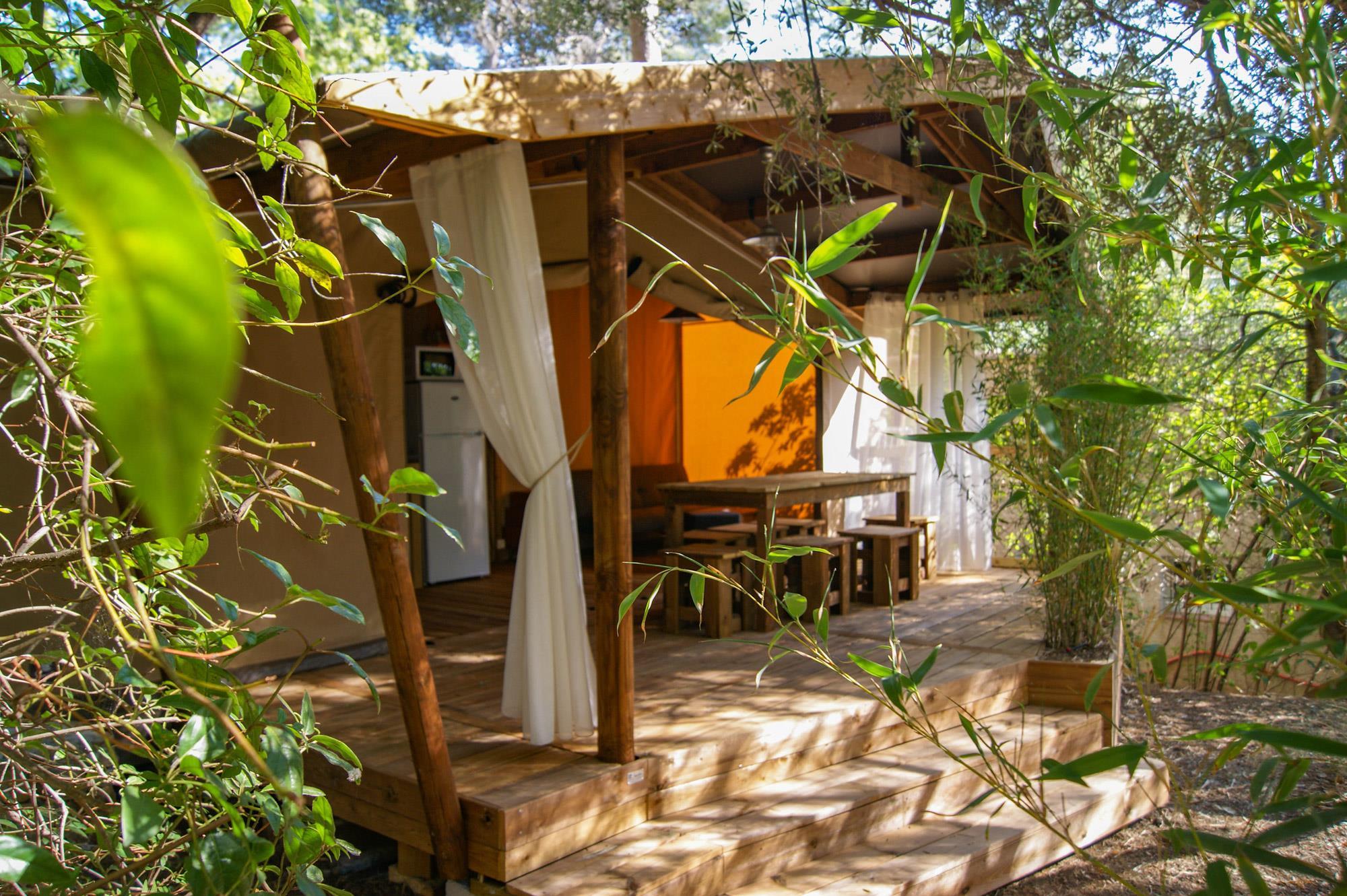 Location - Lodge Cotton 32M2  6/8 P (3 Chambres) - Camping Le Beau Vezé