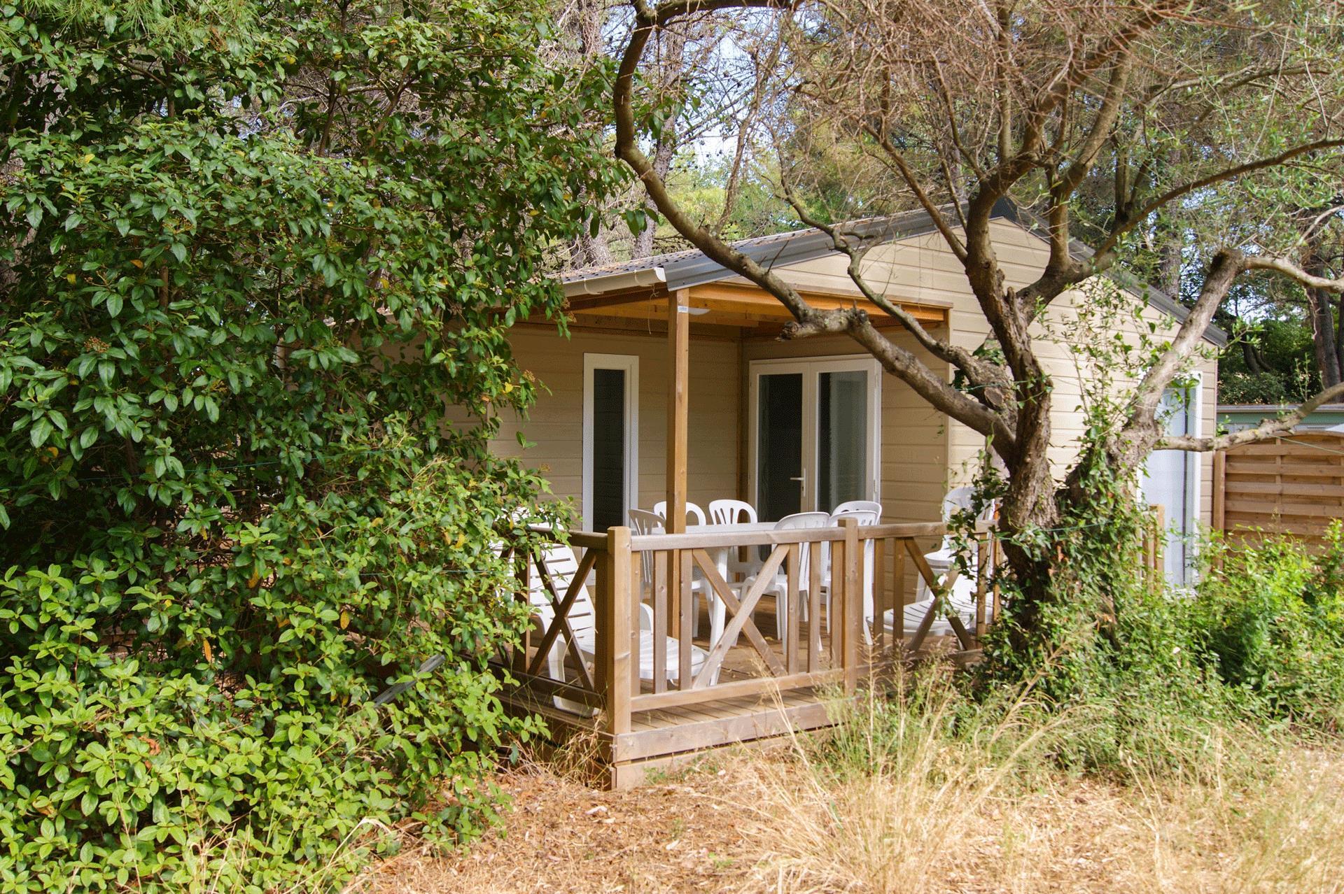 Location - Chalet Vanille 32M² (3 Chambres) - Camping Le Beau Vezé