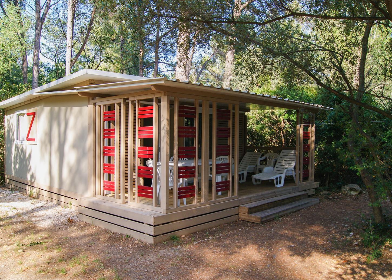 Location - Chalet Vega 32M² (2 Chambres), Canapé Lit Dans Le Salon - Camping Le Beau Vezé
