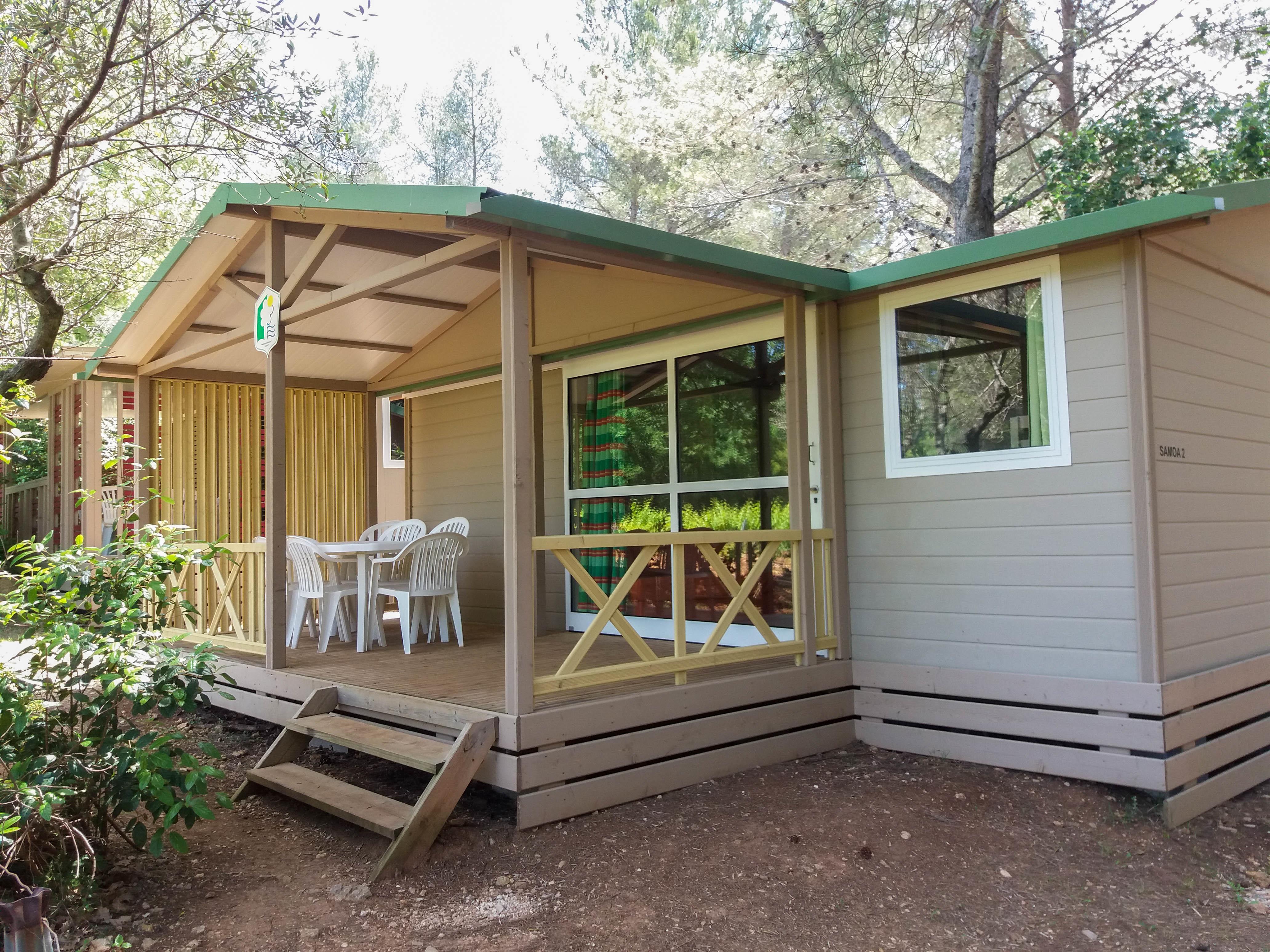 Location - Chalet Samoa 32 M² (3 Chambres) - Camping Le Beau Vezé