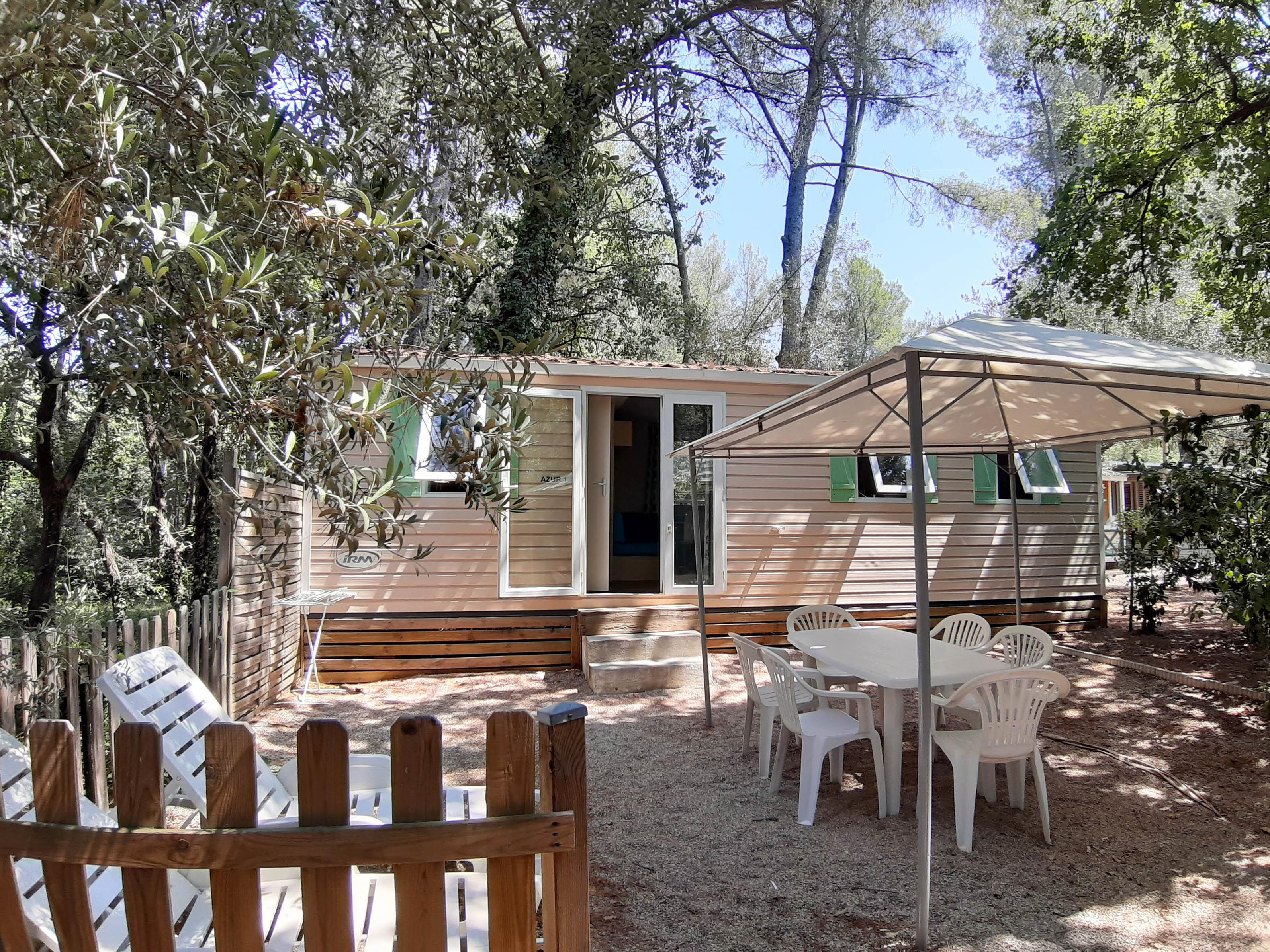 Location - Mobil-Home Azur 24 M² (2 Chambres) - Camping Le Beau Vezé