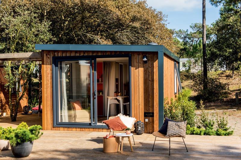 Location - Cottage Jasmin 21M² + Jacuzzi (1 Chambre) - Camping Le Beau Vezé
