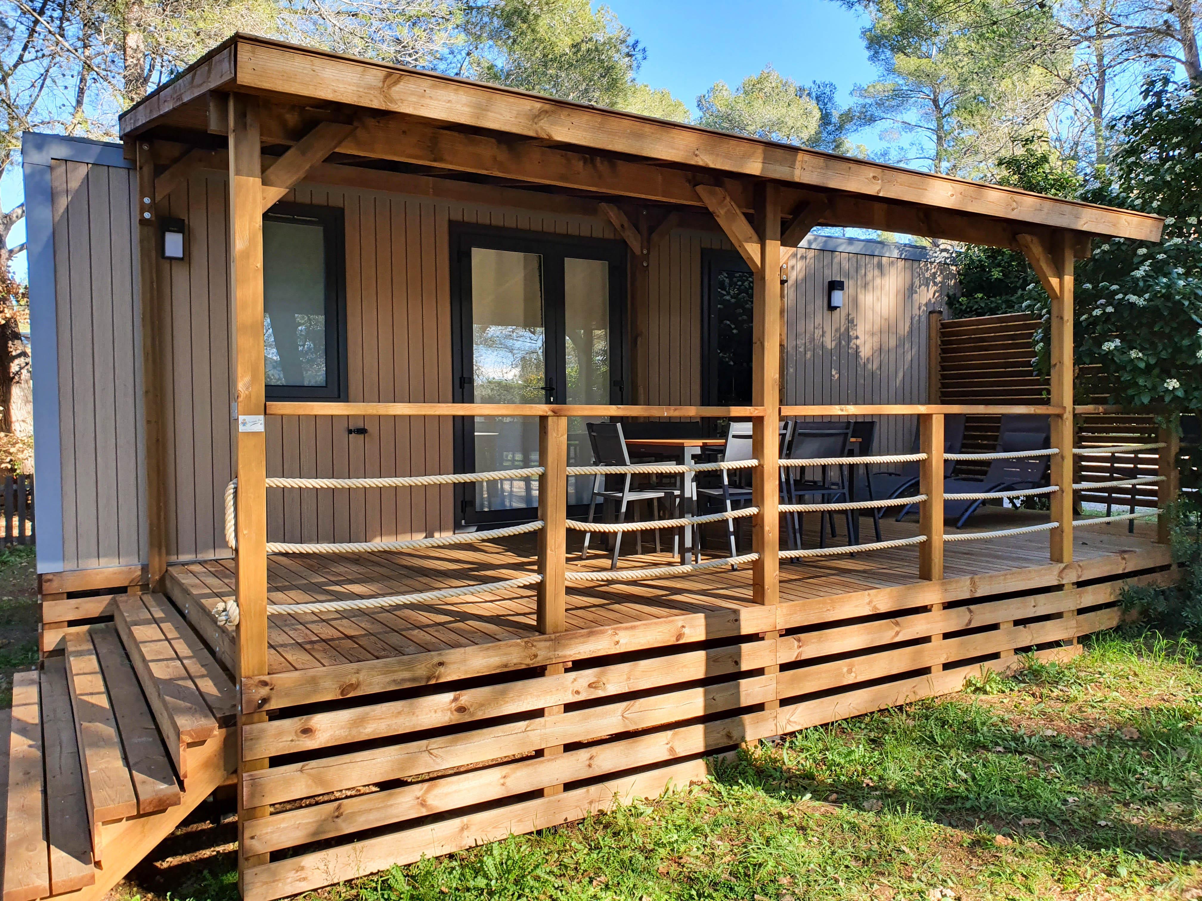 Location - Cottage Neroli 33M² (3 Chambres) - Camping Le Beau Vezé